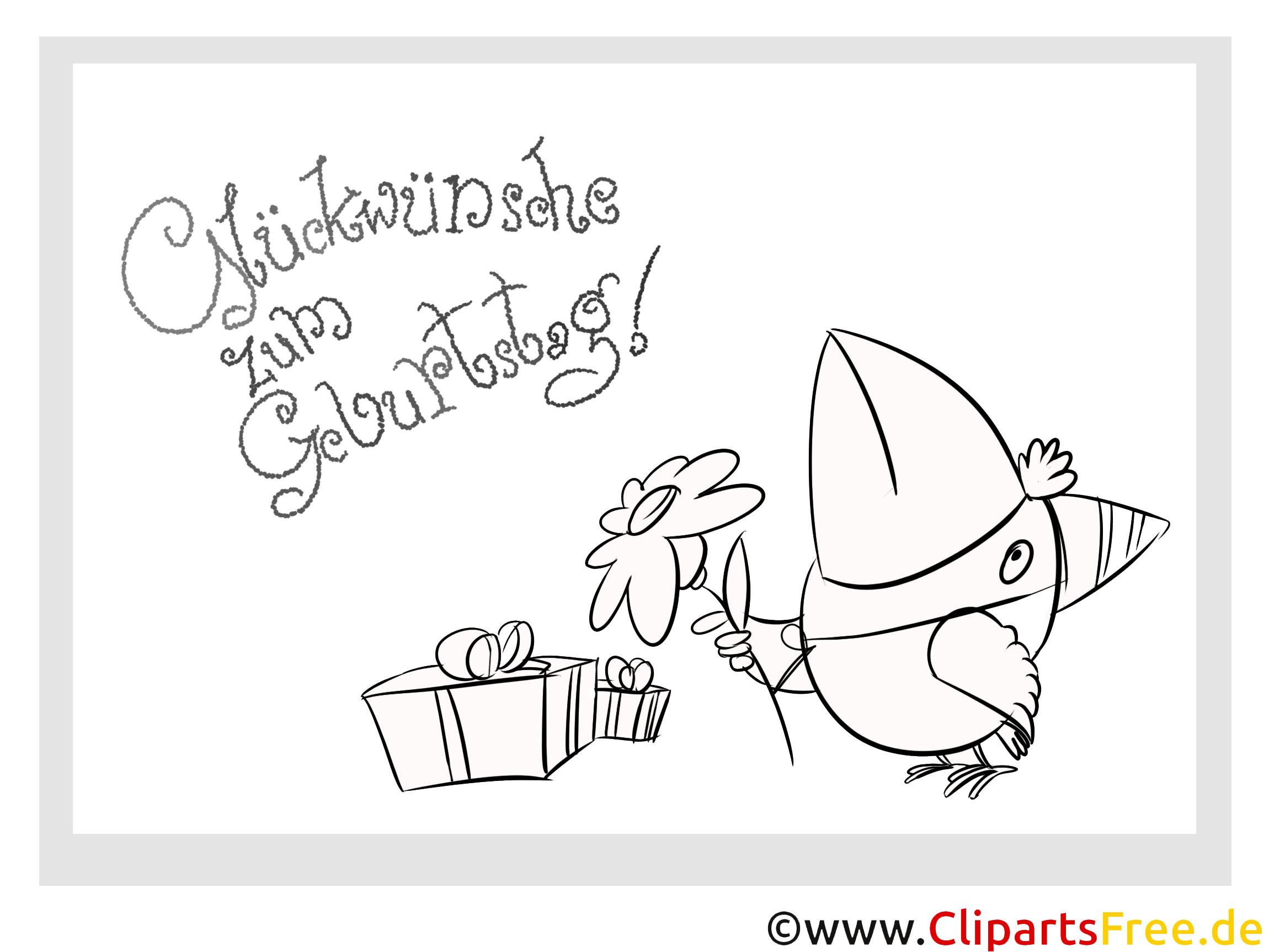 vogel geschenk malvorlage zum kindergeburtstag