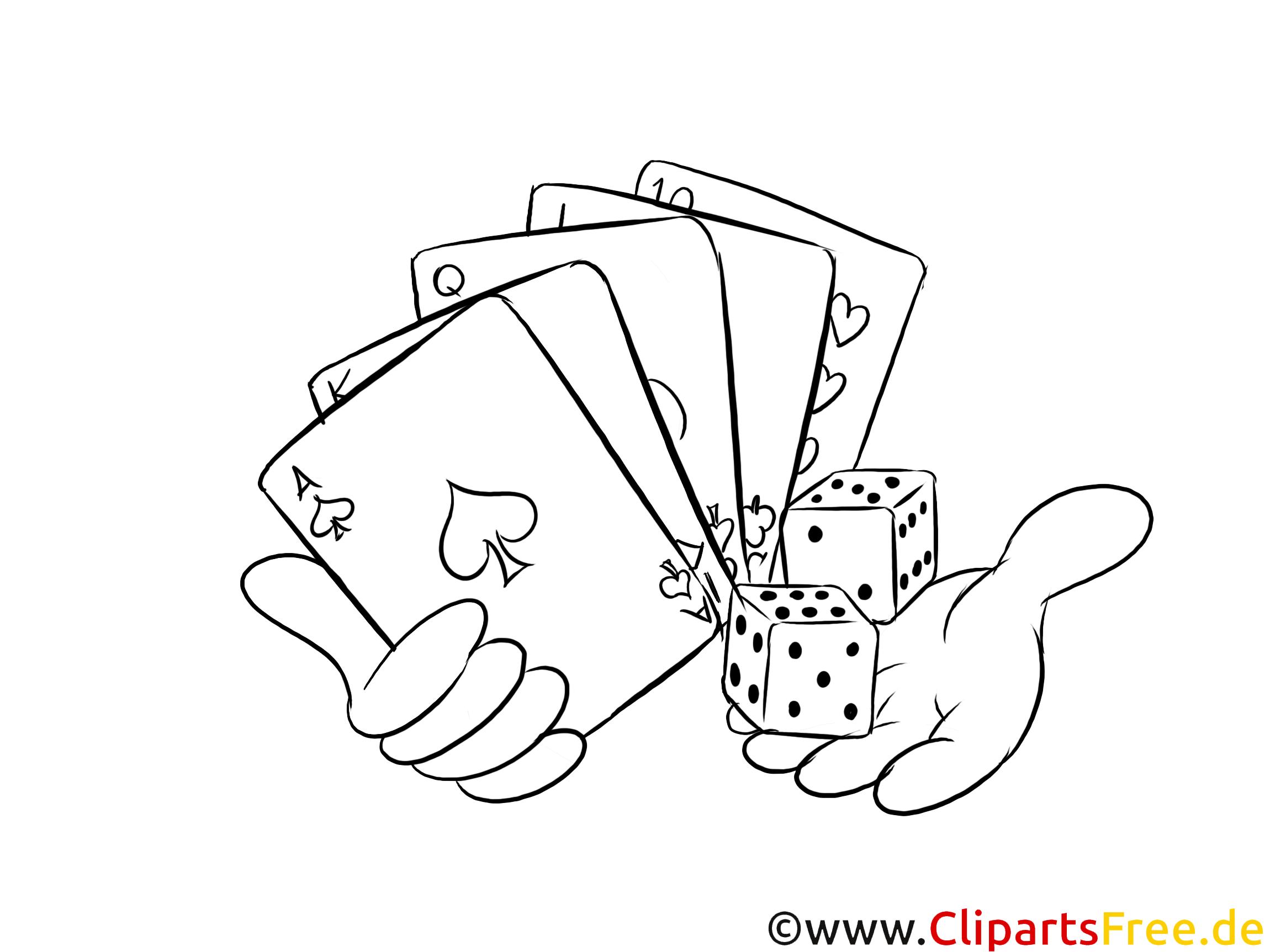 fokus spielkarten  casino bilder zum ausmalen