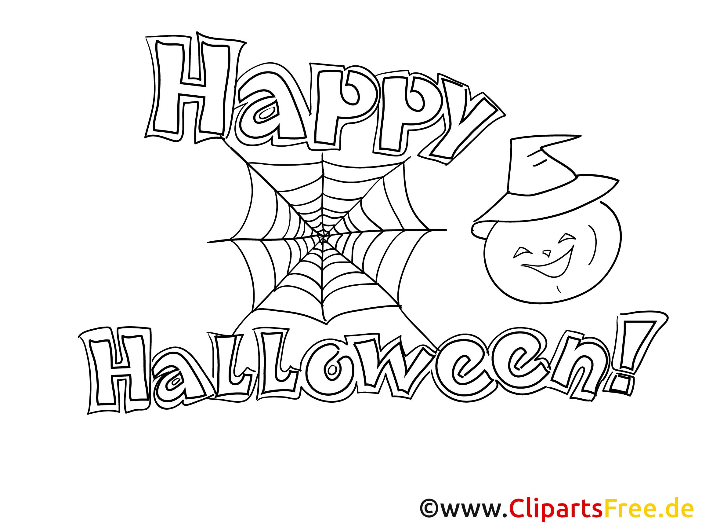 Ausmalbild für Erwachsene zu Halloween
