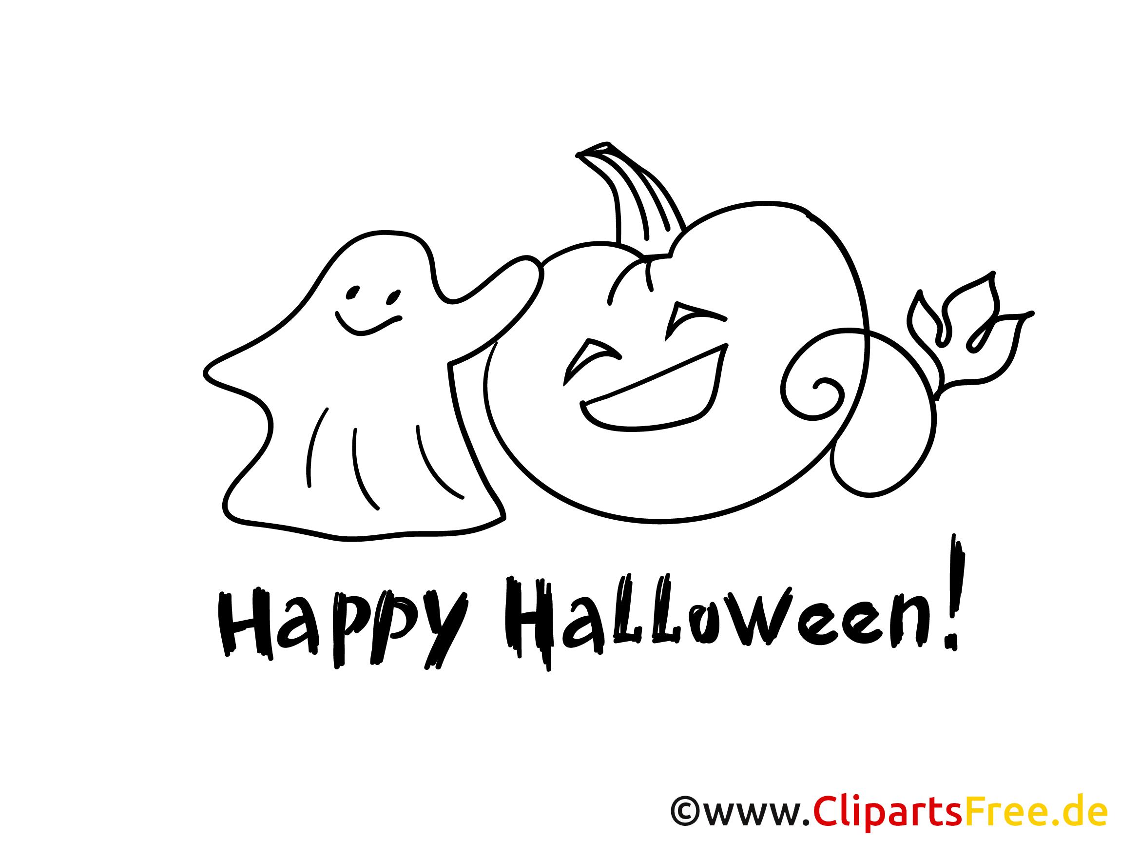 Ausmalbild zum Drucken Halloween