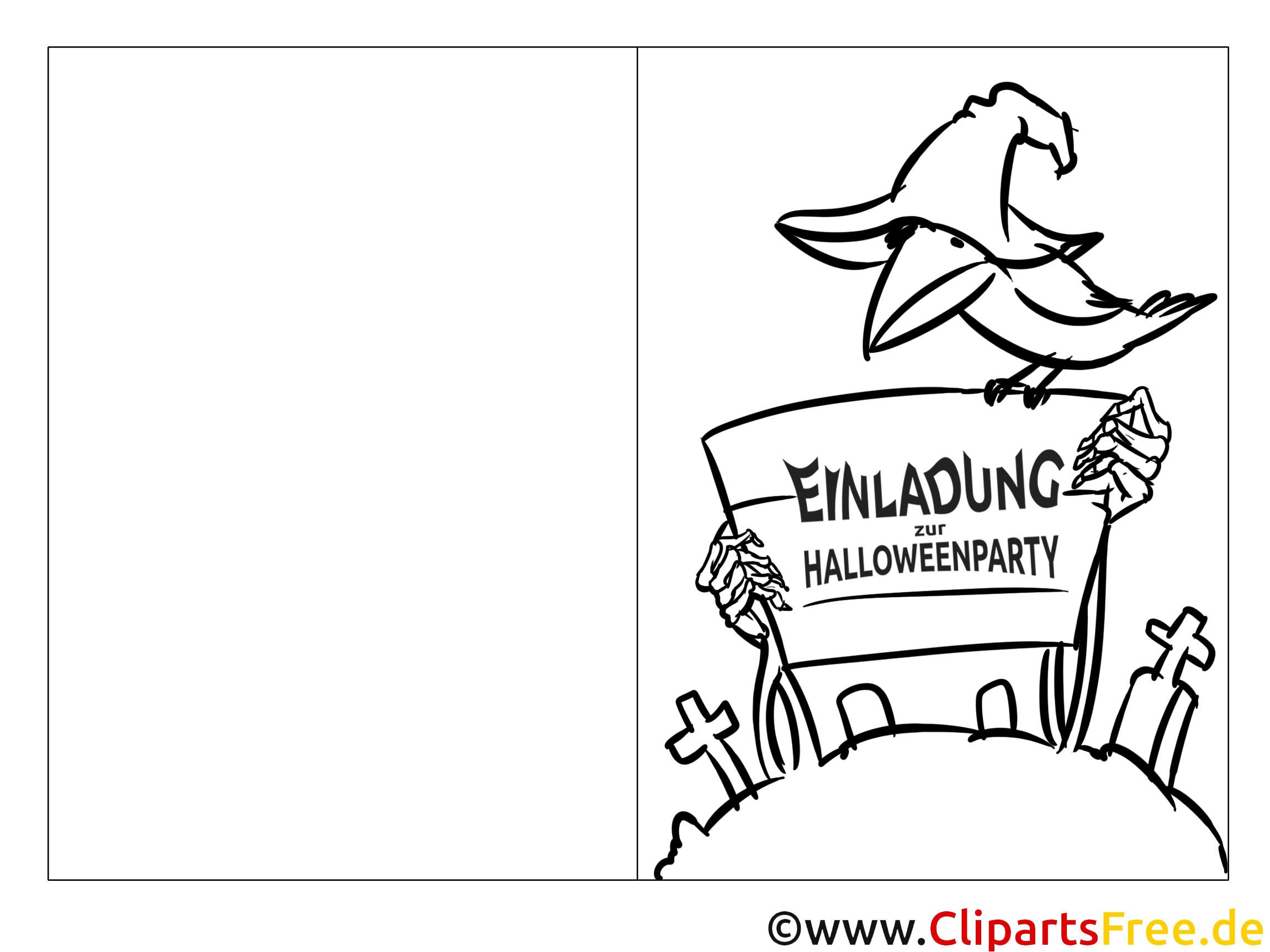 Ausmalbild zum Malen Rabe, Halloween