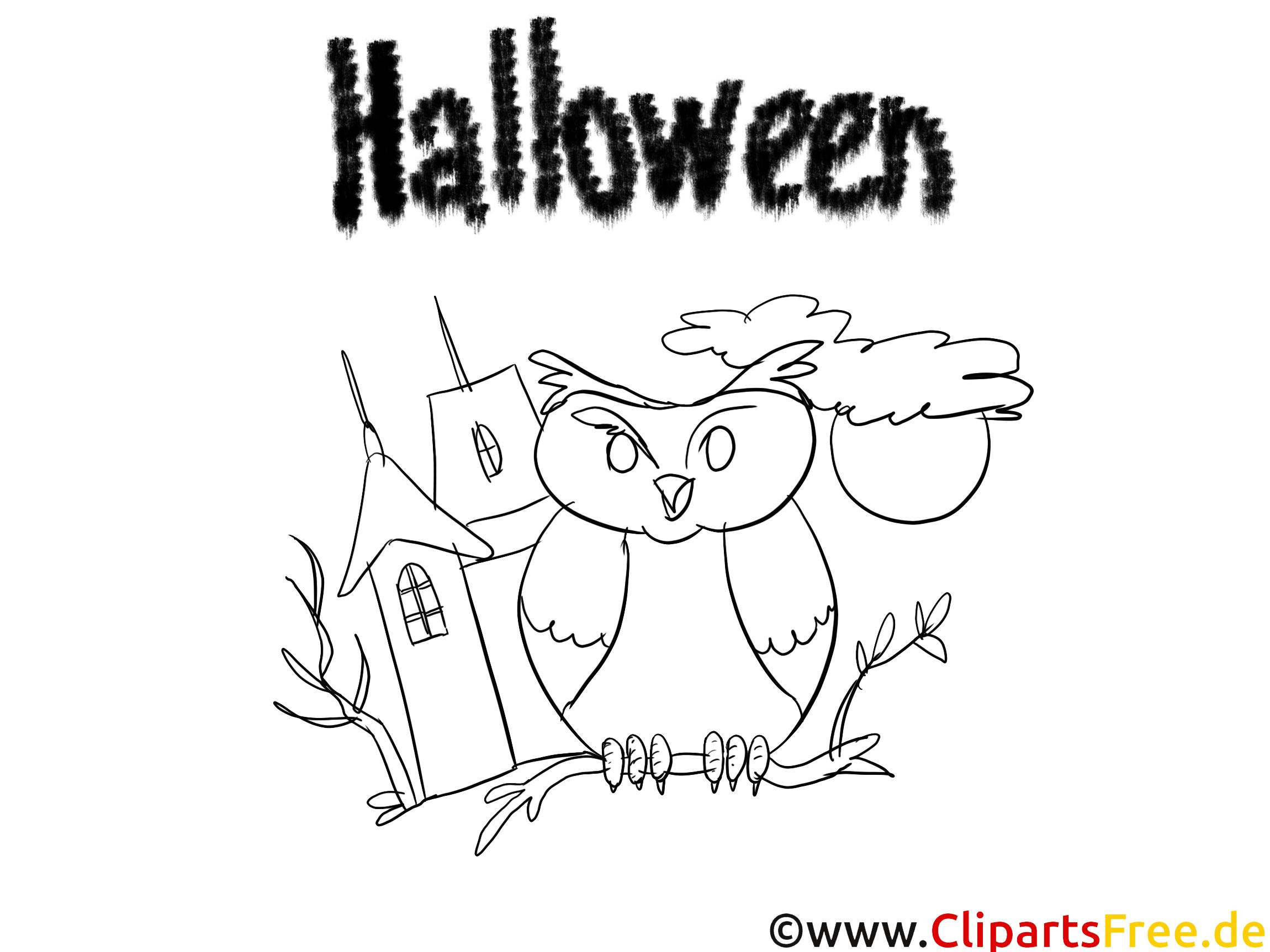 ausmalbilder von halloween zum drucken