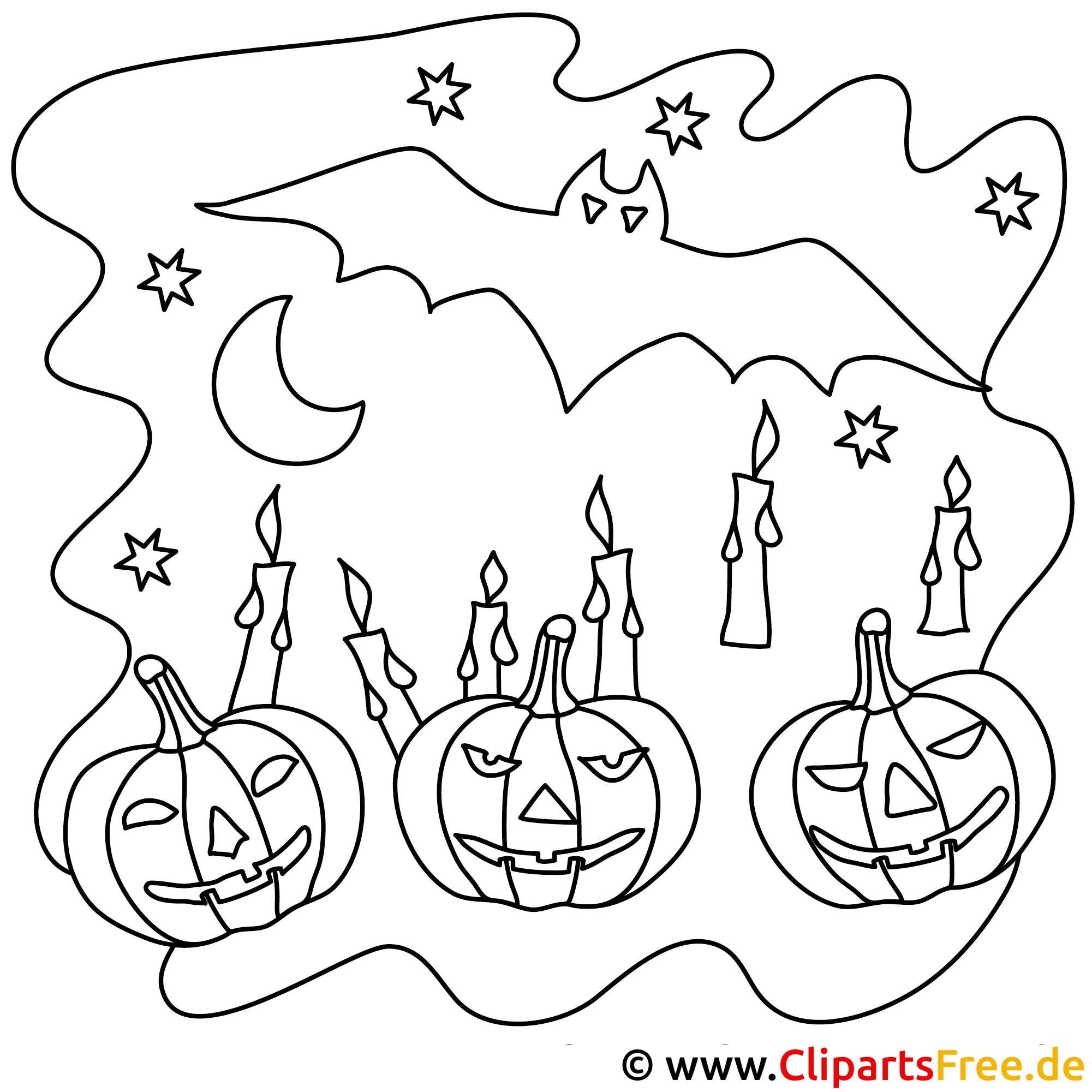 Bild zum Ausmalen Halloween