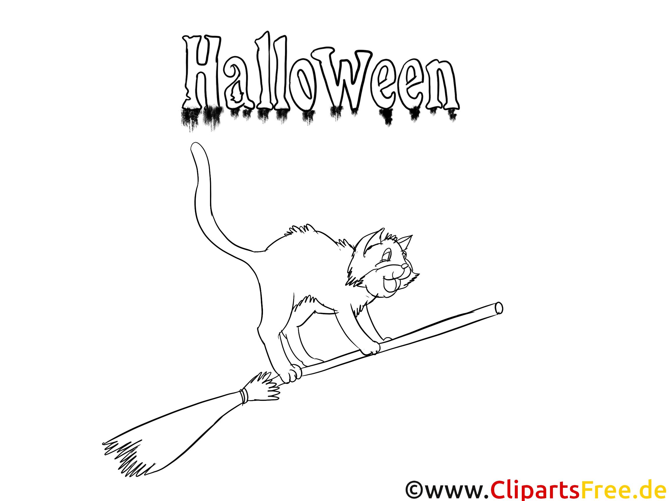 Bilder von Halloween zum Ausmalen und Drucken