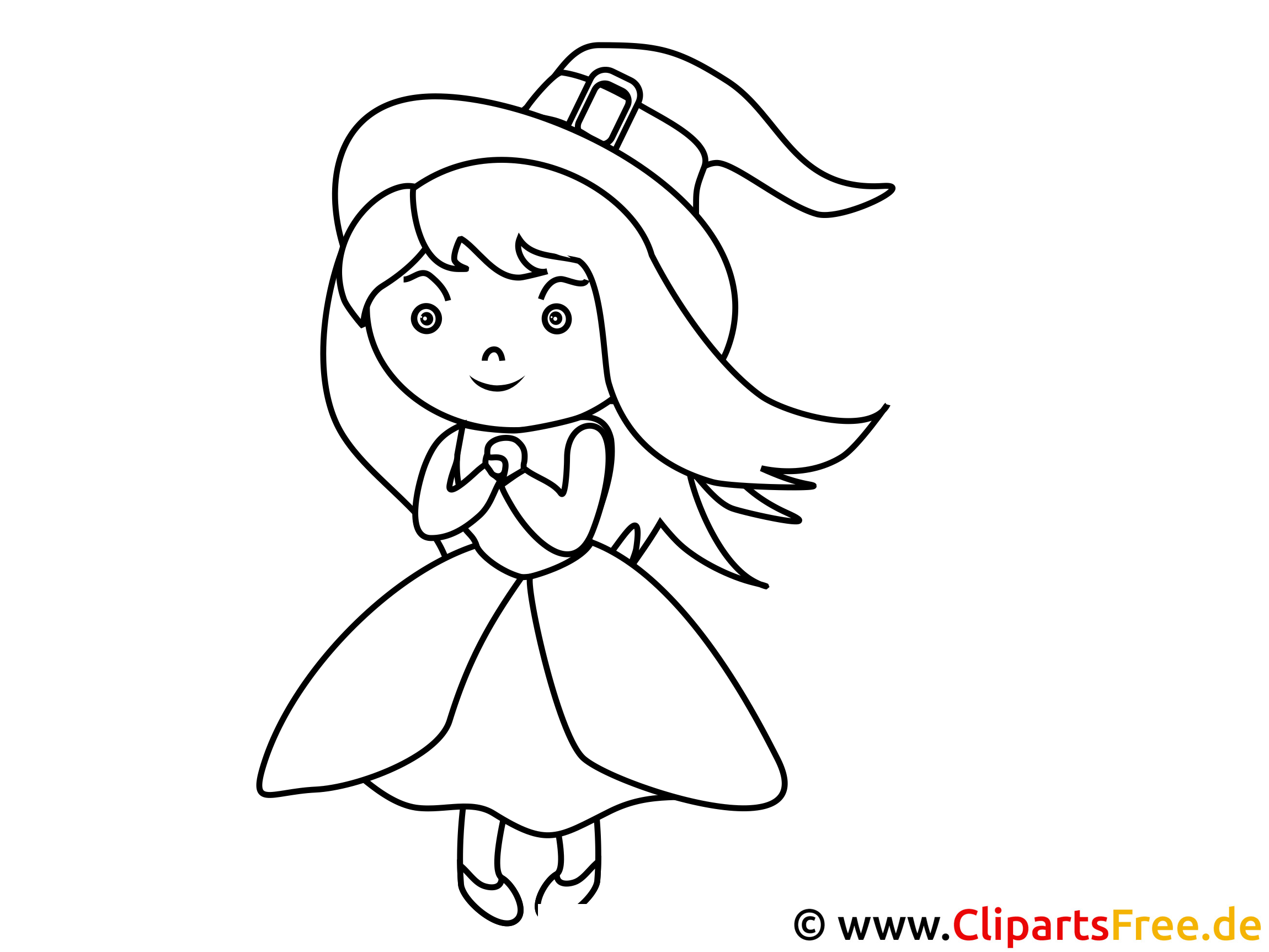 Coloring Sheet Witch