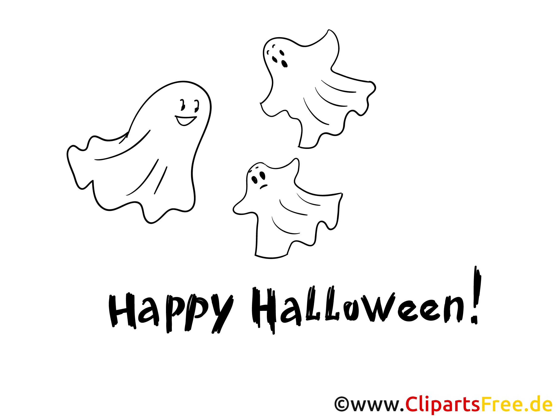 Einfaches Ausmalbild für kleine Kinder zu Halloween