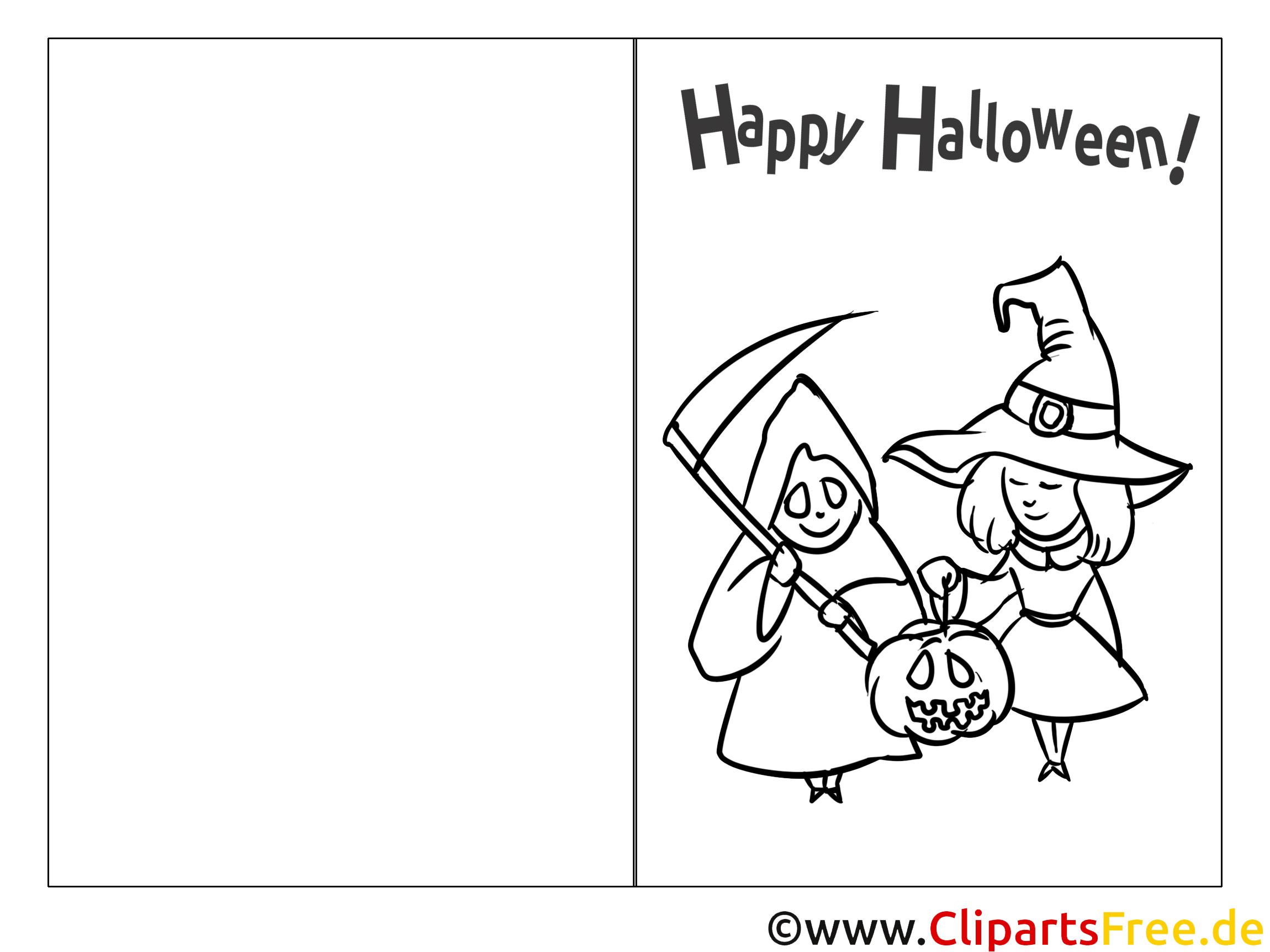 Einladung zu Halloween mit Hexe