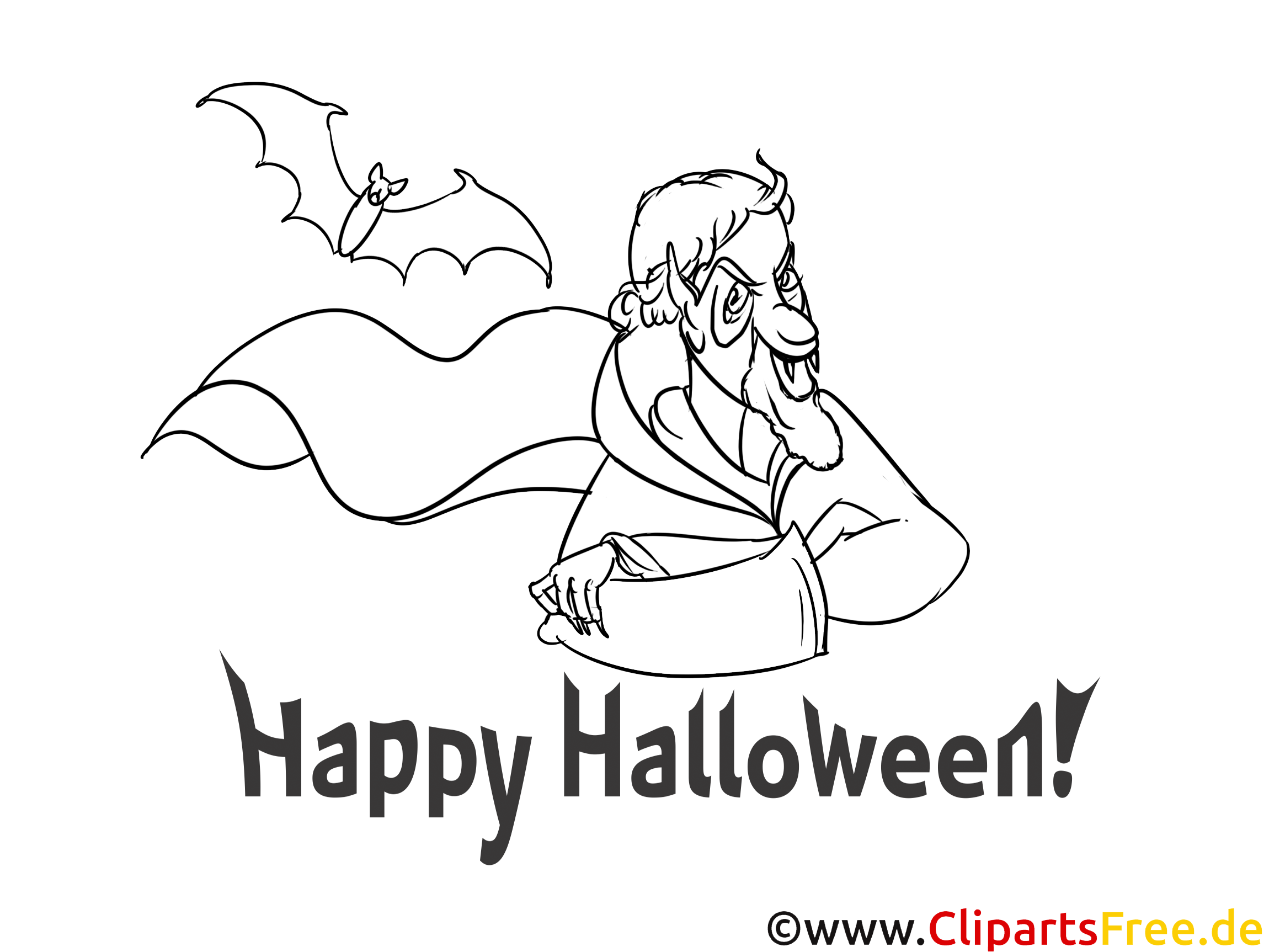 Funny Coloring Sheets for Halloween