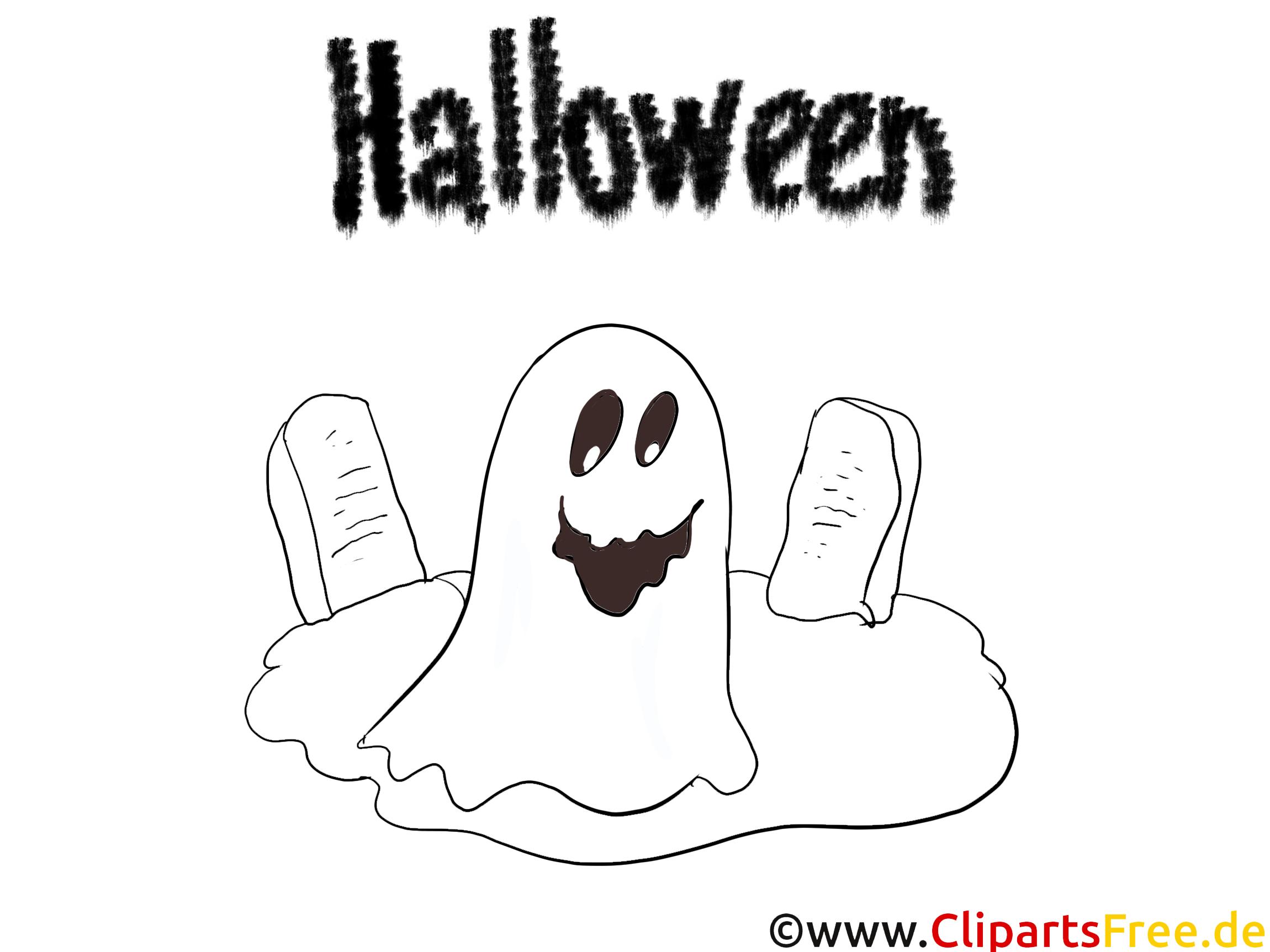 Geist gruselige Malvorlagen zu Halloween