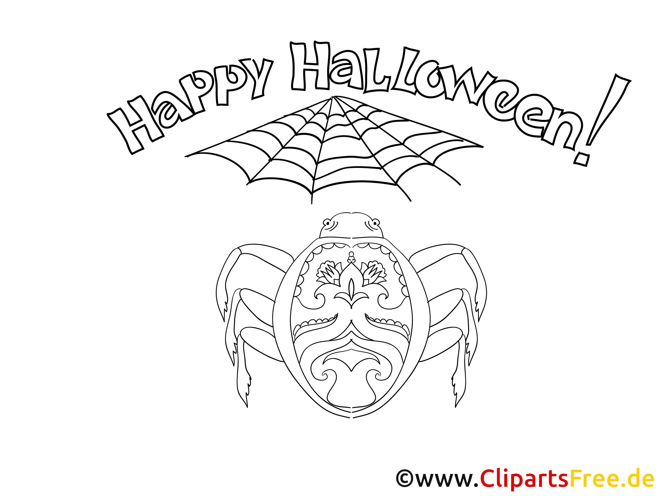 Gratis Ausmalbild zu Halloween