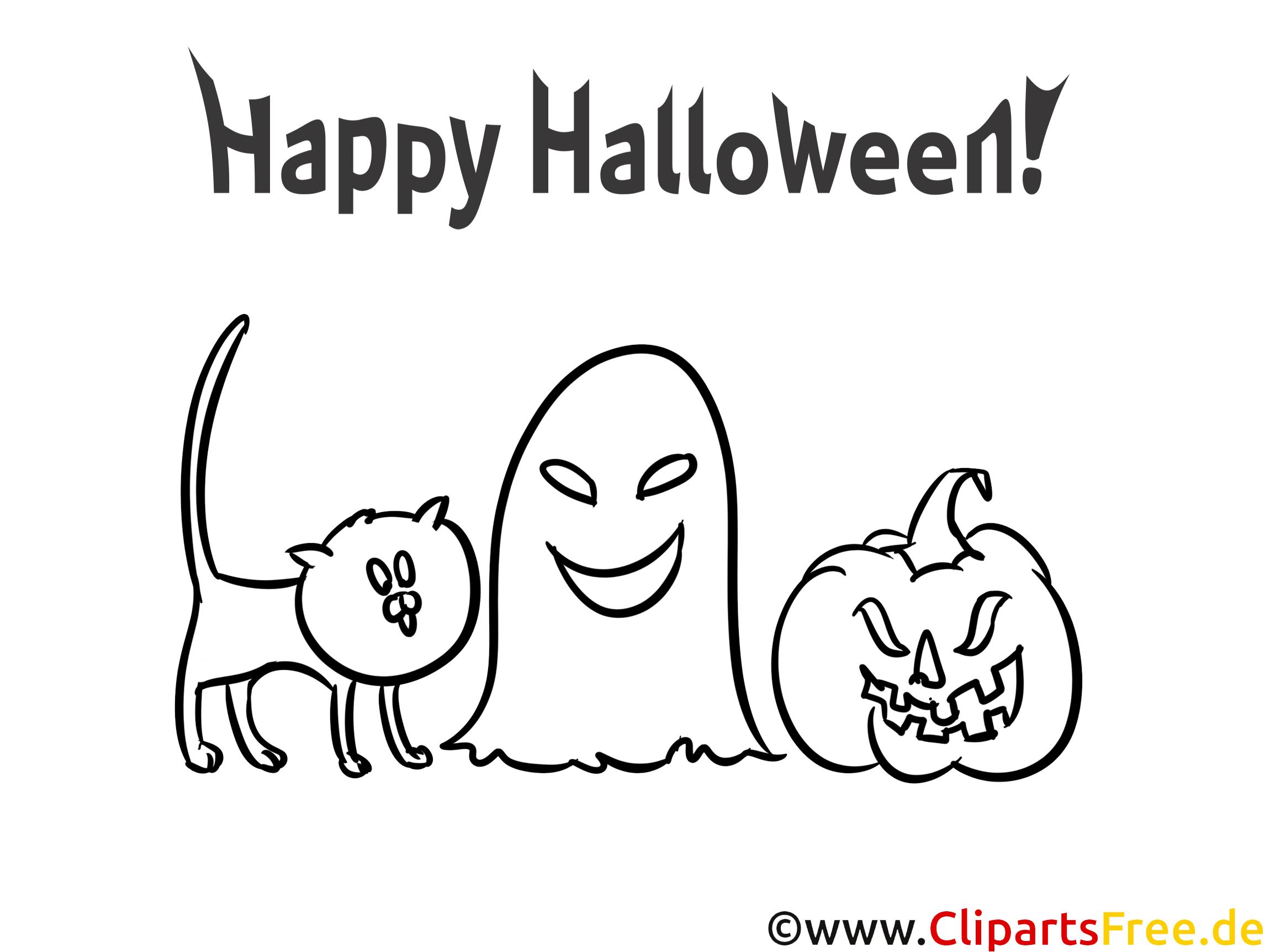 Gratis Malvorlage zu Halloween