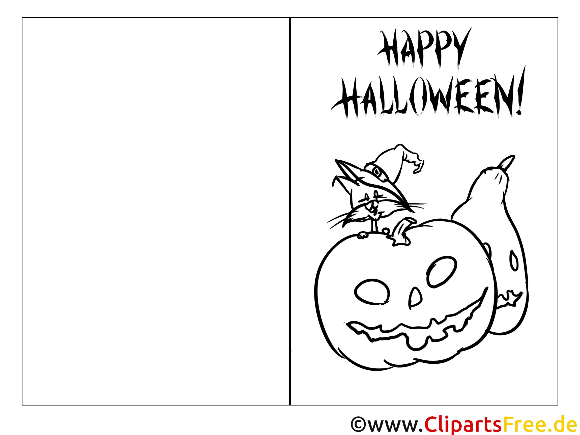 Gruselige Malvorlage zu Halloween