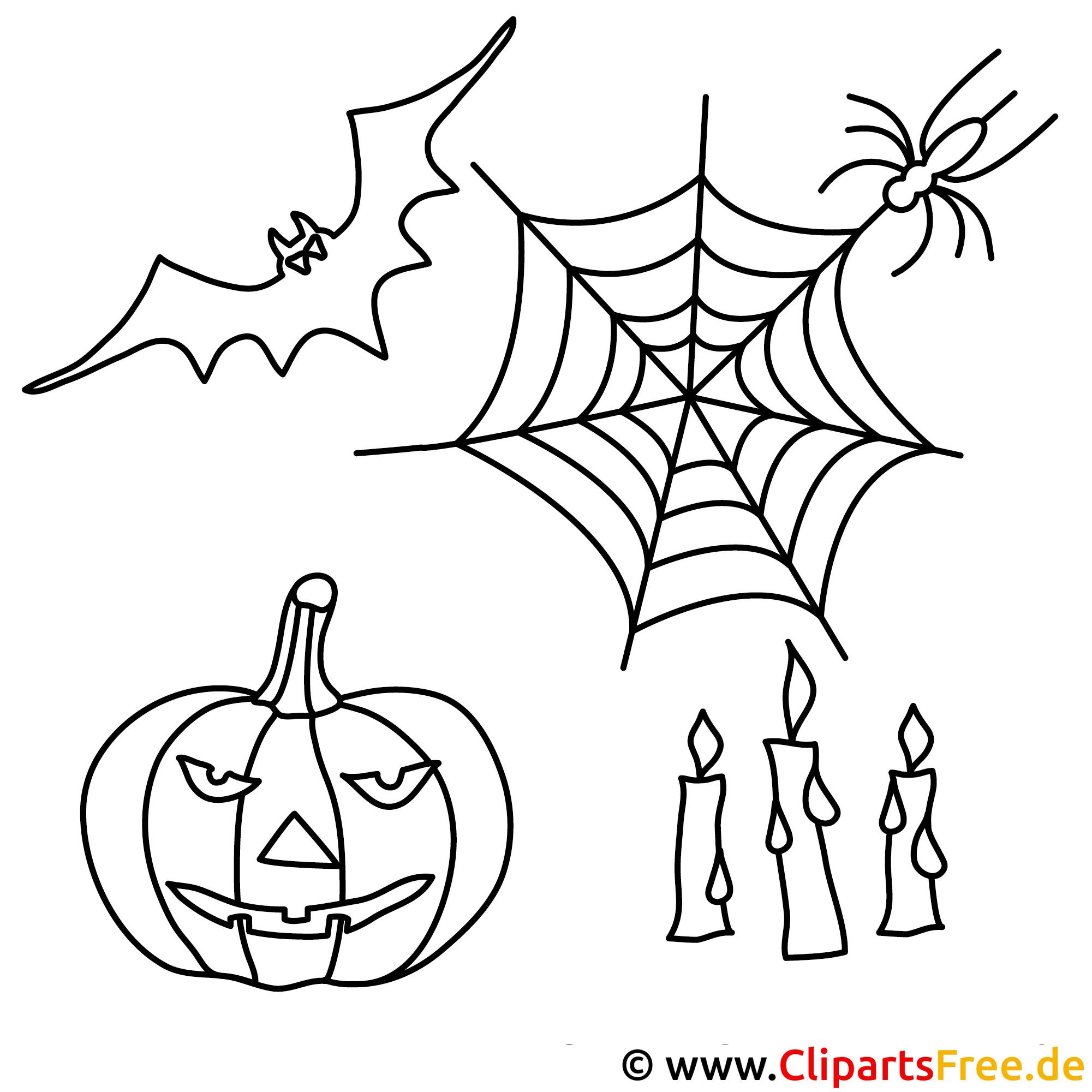 Halloween Ausmalbild zum Ausmalen
