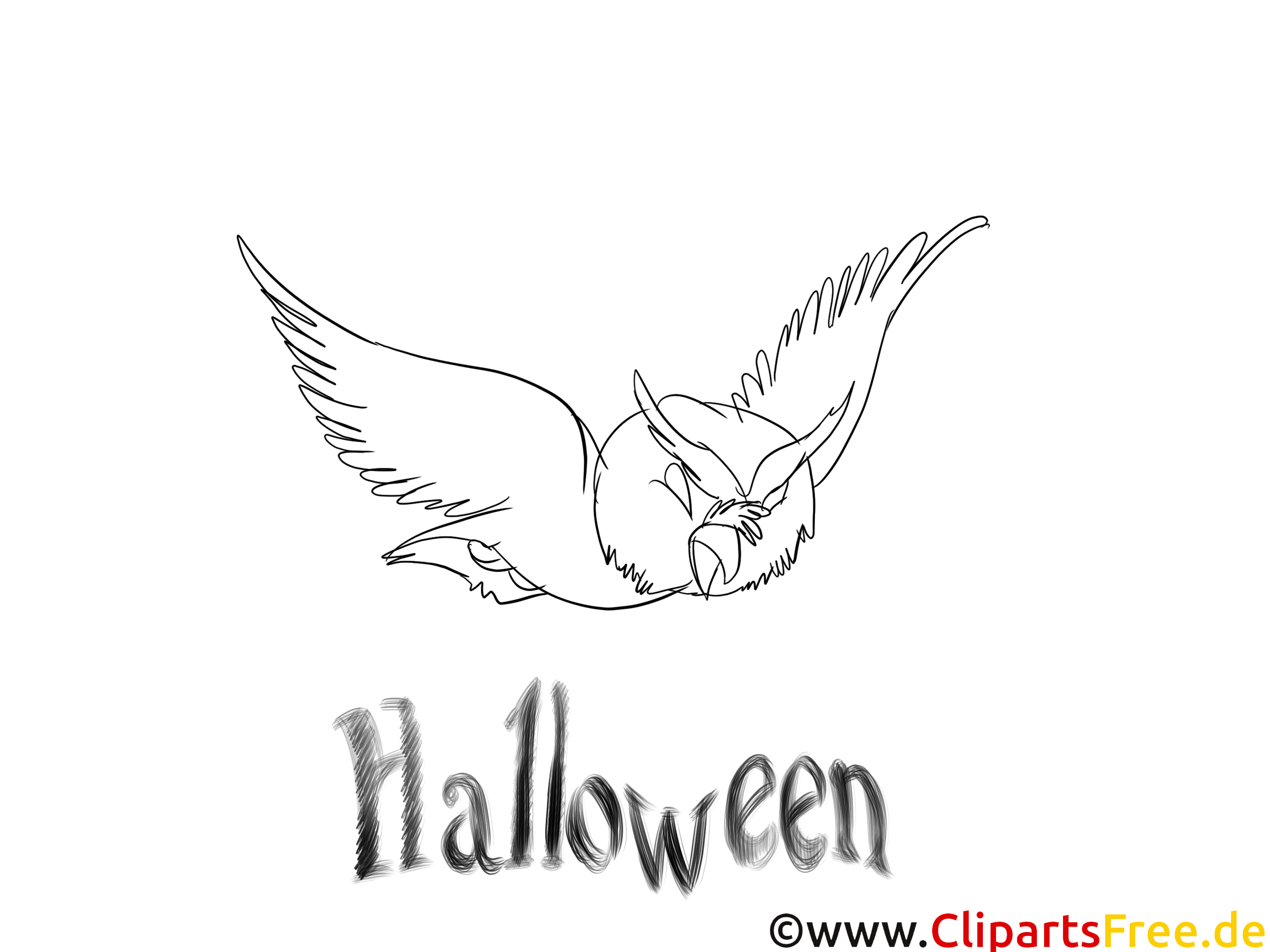Halloween Ausmalbilder - Vorlagen zum Ausmalen gratis ausdrucken