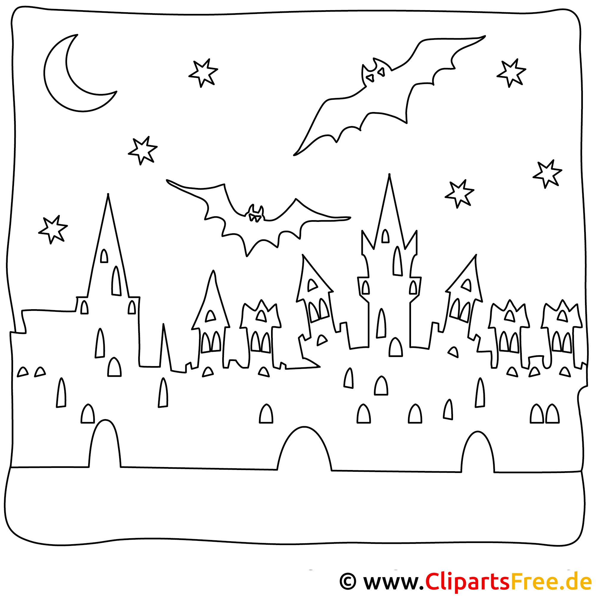 Halloween Ausmalbilder gratis