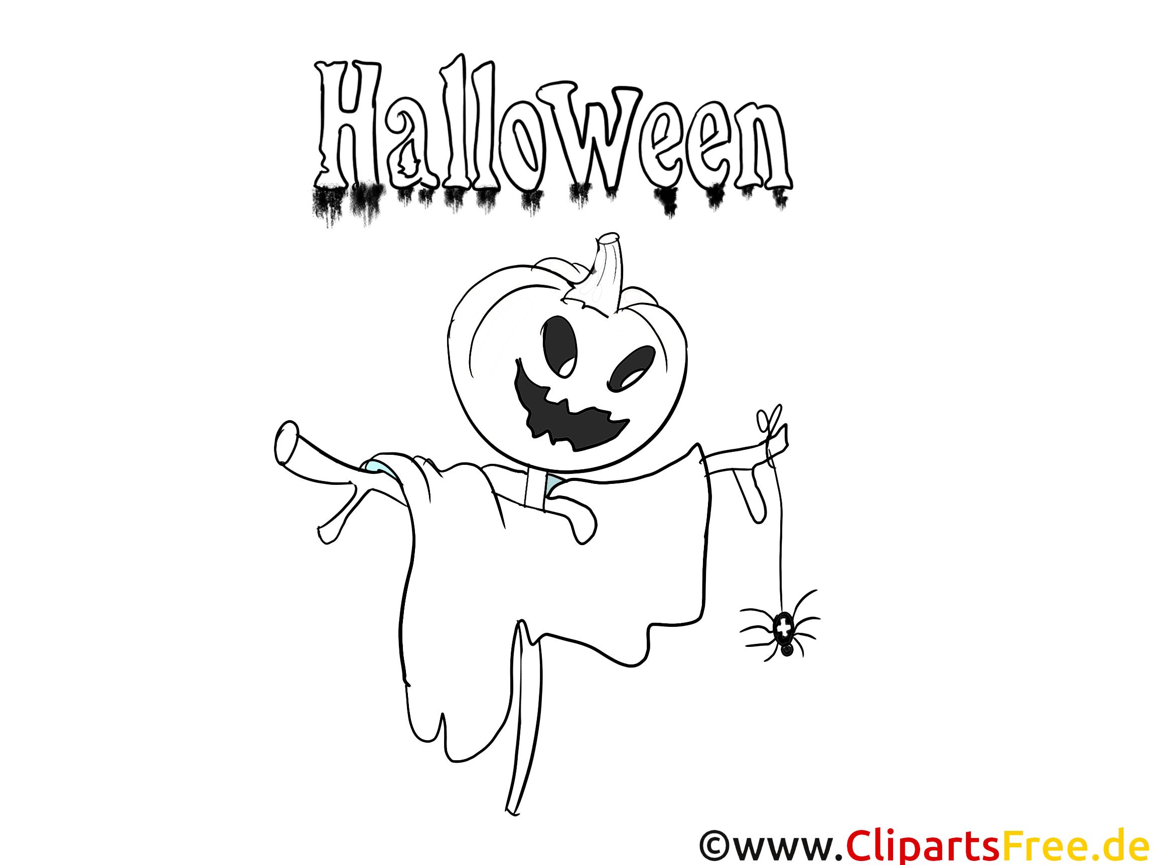 Halloween Ausmalvorlage