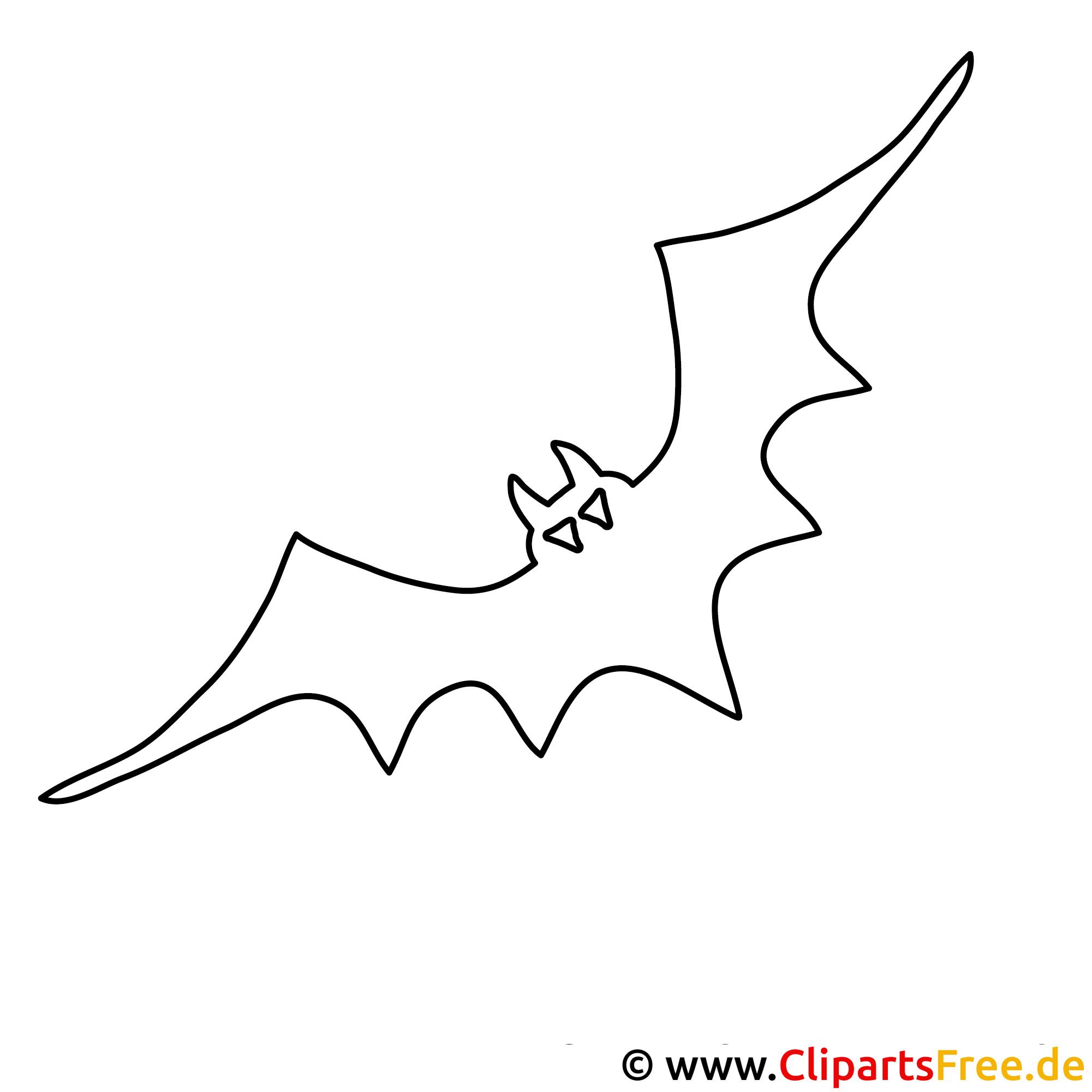 Halloween Bild zum Ausmalen Fledermaus