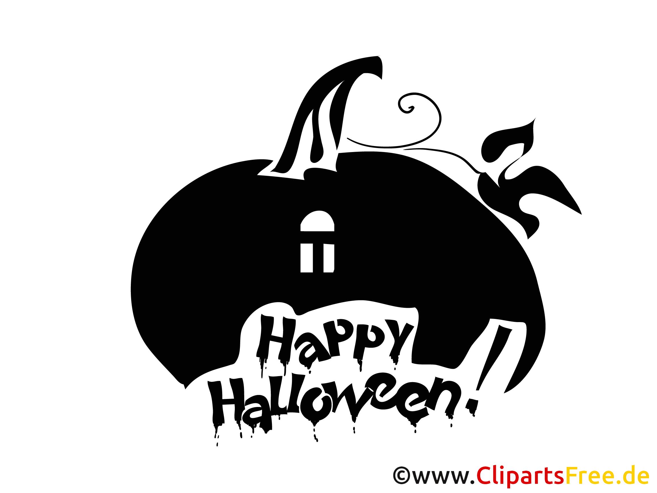 Halloween Bild zum Drucken und Ausschneiden