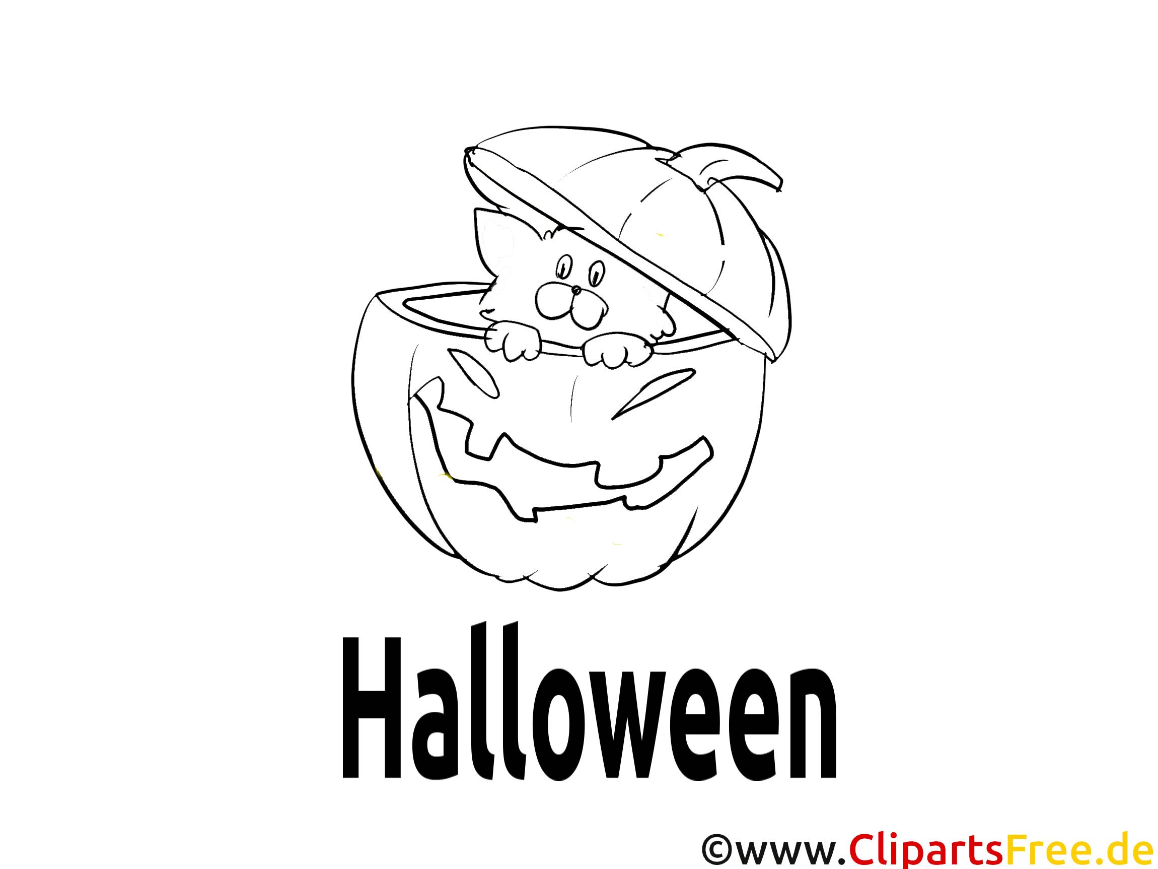 Halloween Bild zum Malen und Ausdrucken