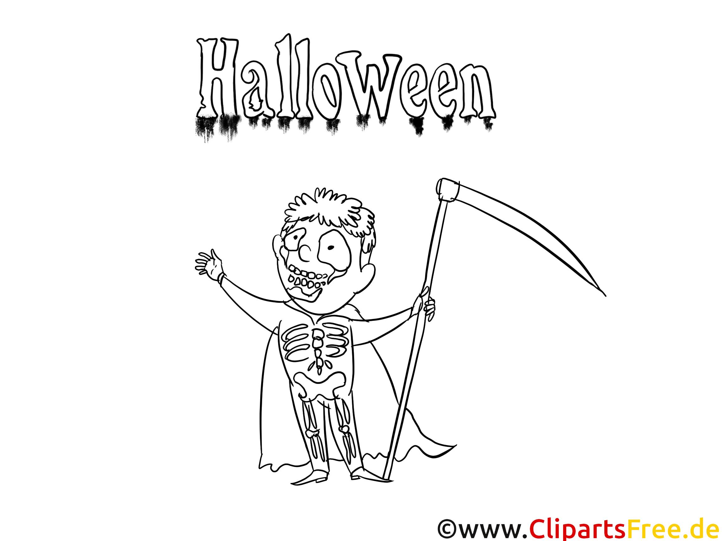 Halloween Bilder zum Drucken und Malen