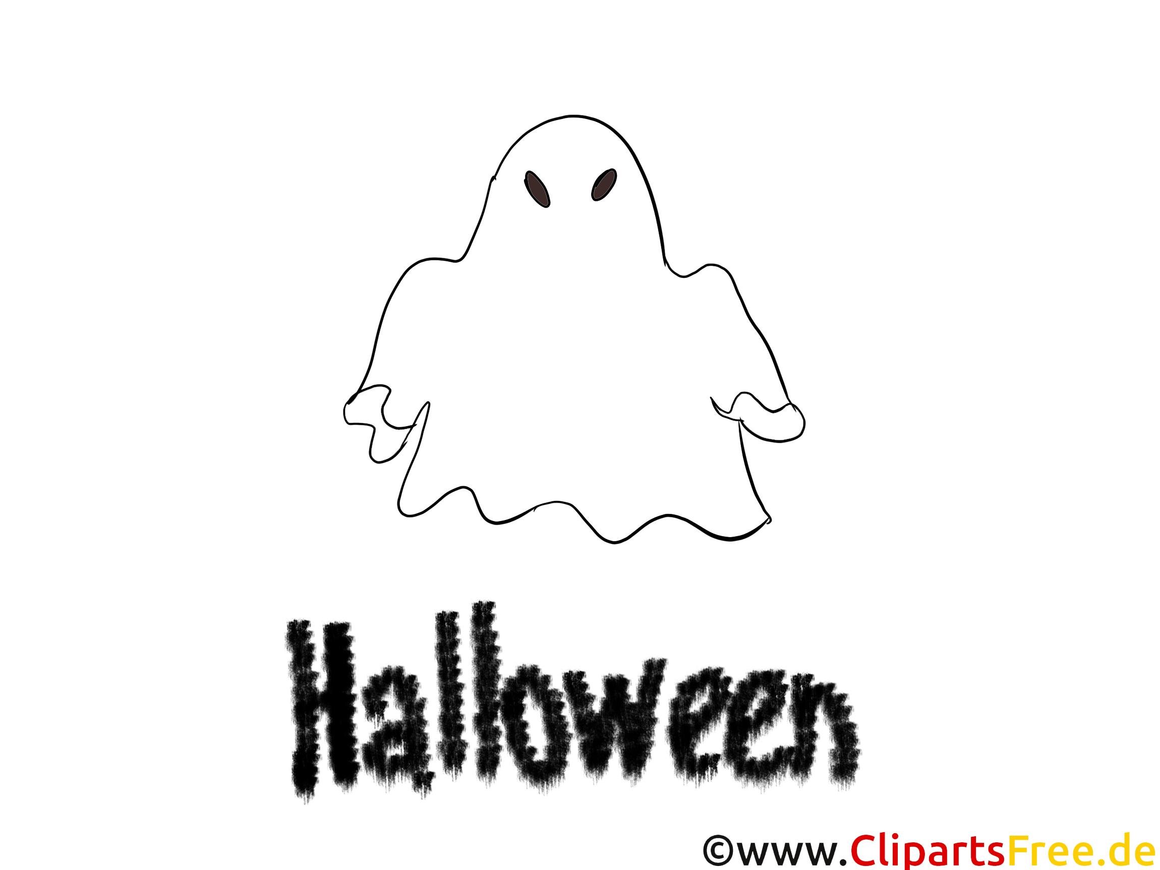 halloween geist ausmalbild
