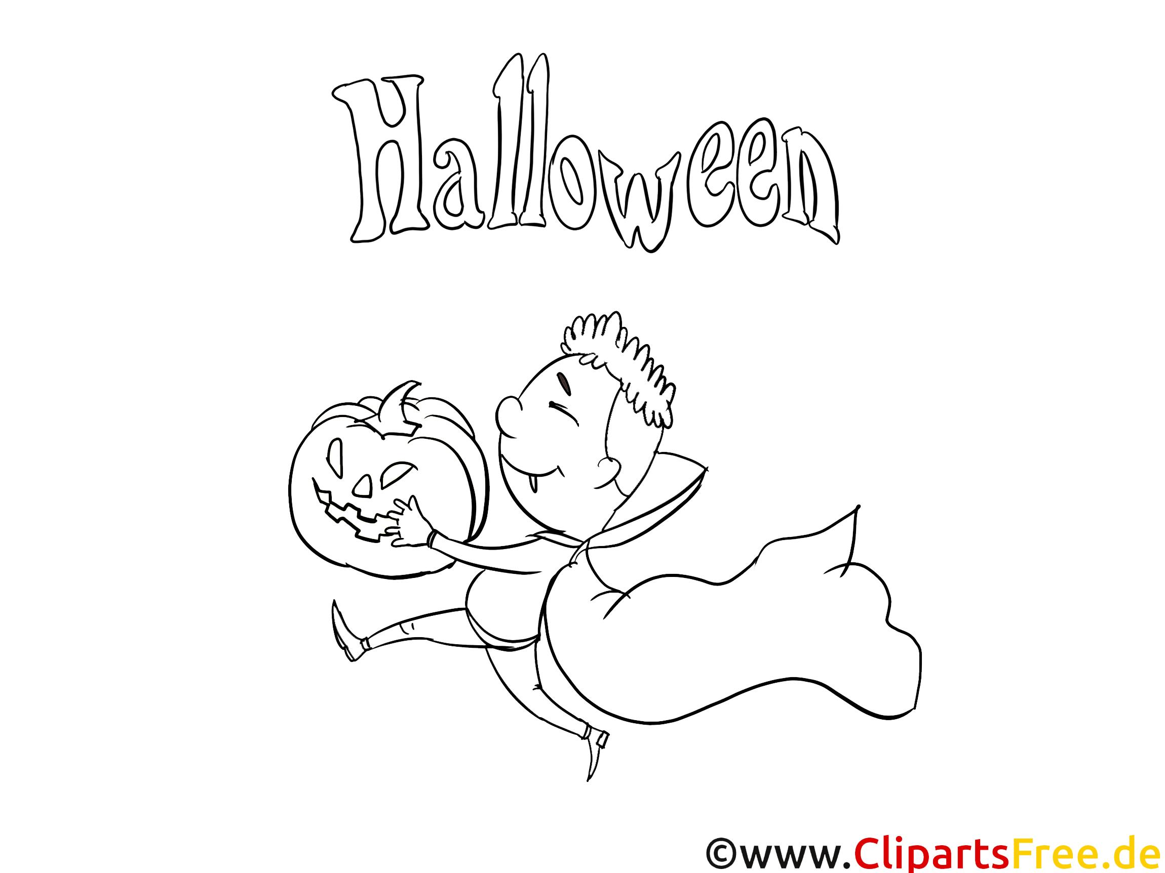 Halloween Grafik zum Malen