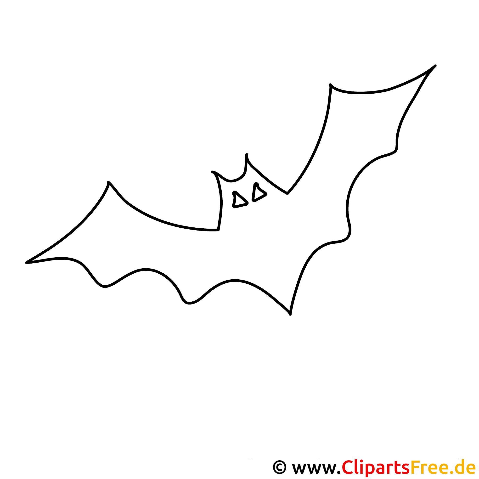 Halloween Malvorlage mit Fledermaus kostenlos