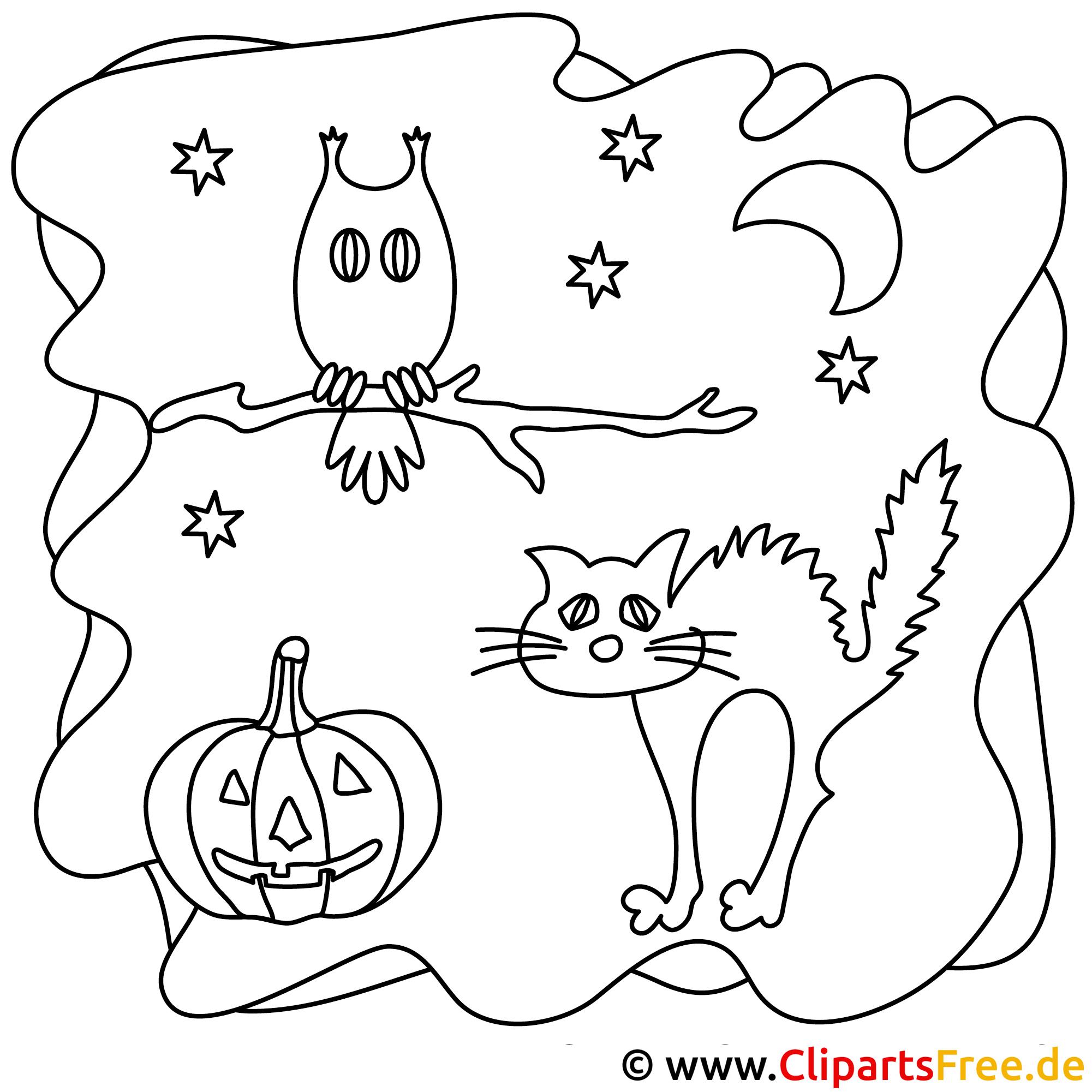 Halloween Malvorlage zu 31 Oktober