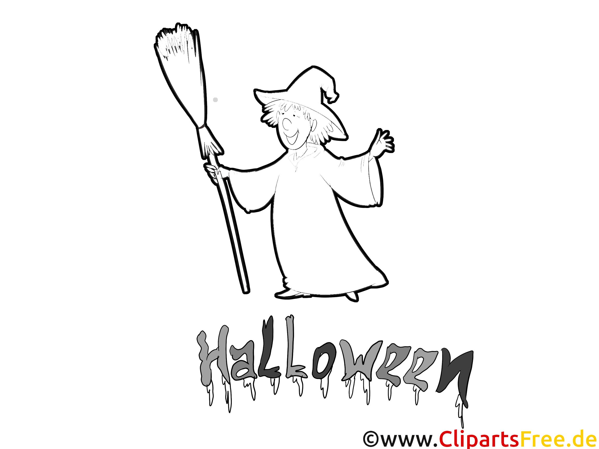 Halloween Zeichnung, Ausmalbild, Vorlage zum Ausmalen