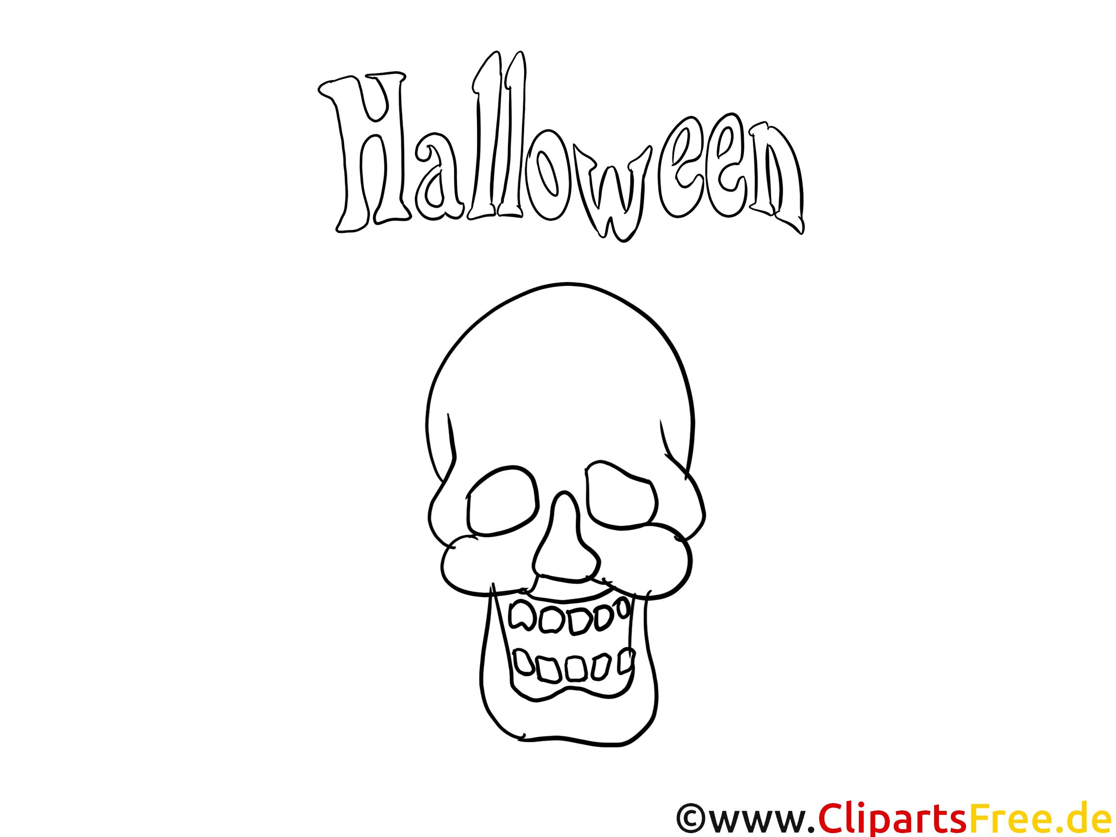 Halloween Zeichnung zum Malen