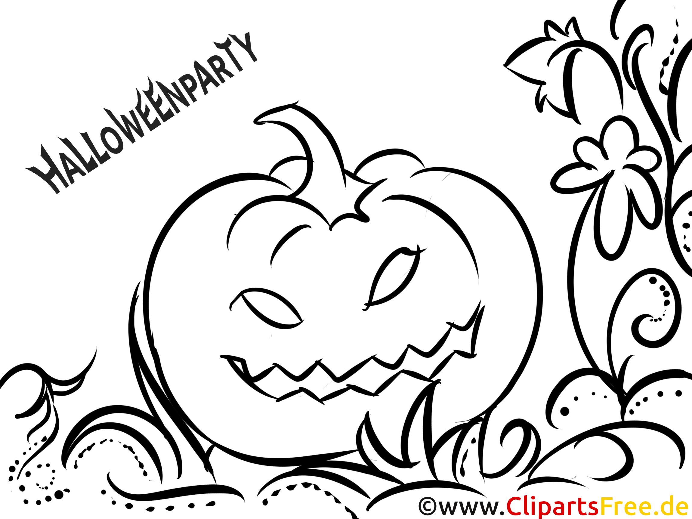 Halloweenkürbis Vorlage zum Ausmalen