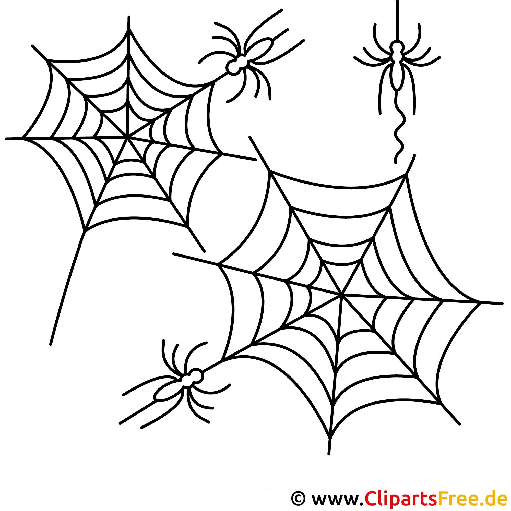 Helloween Malvorlage Spinnennetz