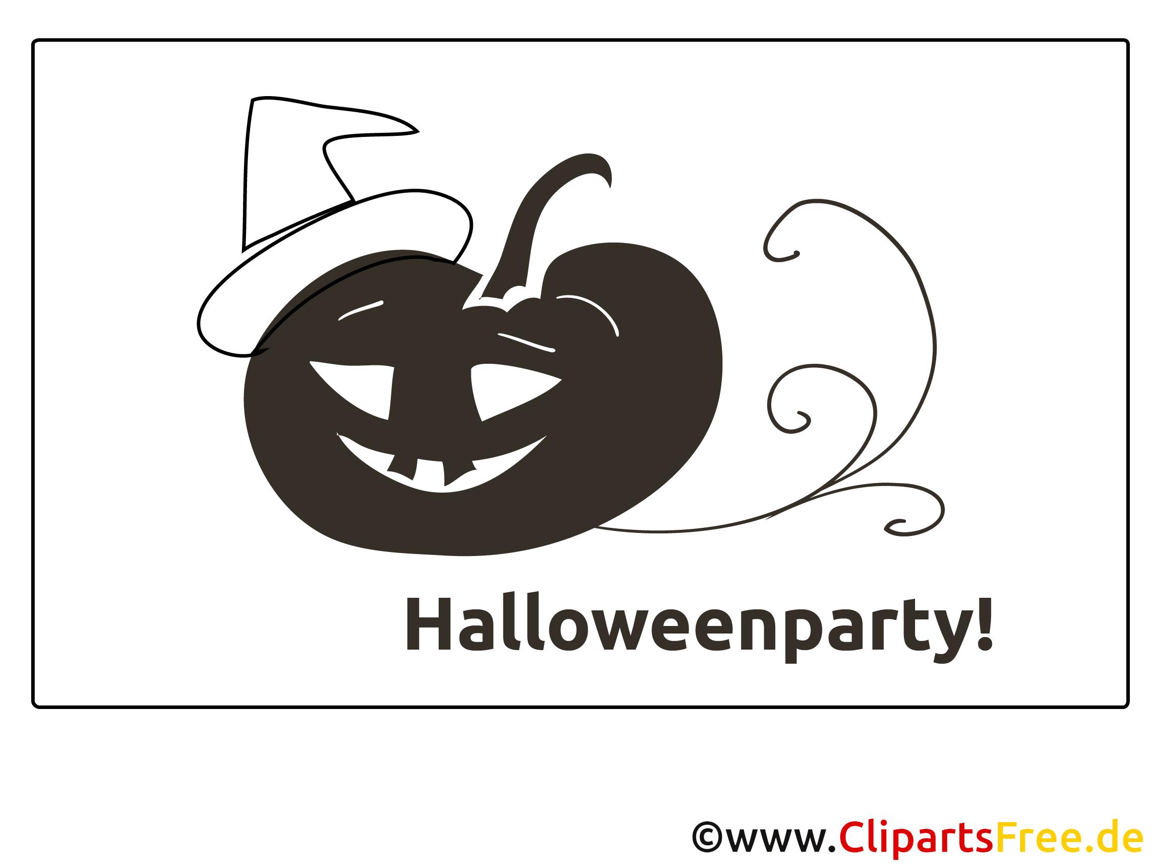 Hut Kürbis Ausmalbilder zu Halloween