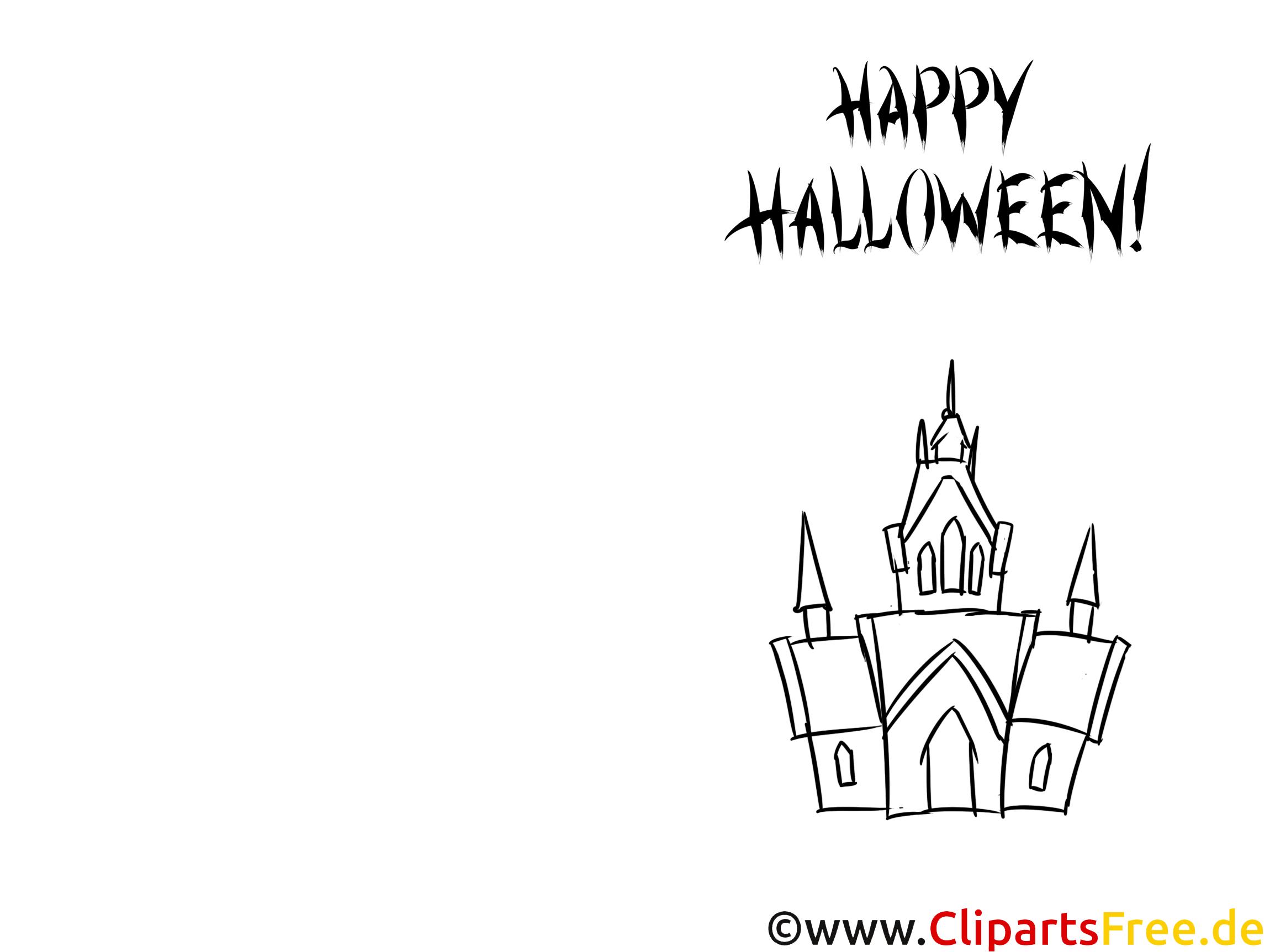 Karte-Vorlage Happy Halloween