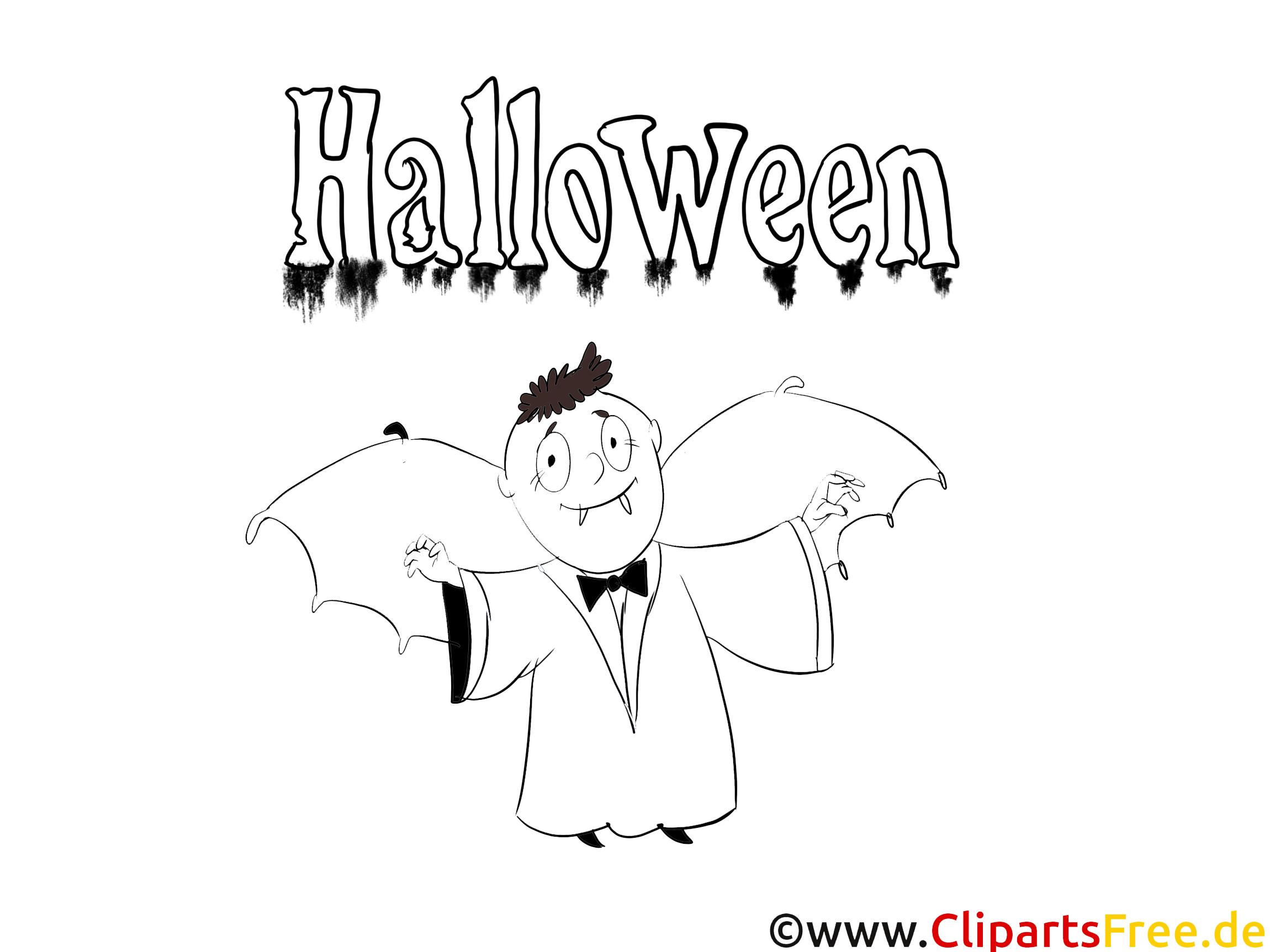 Kostenlose Ausmalbilder für Kinder zu Halloween