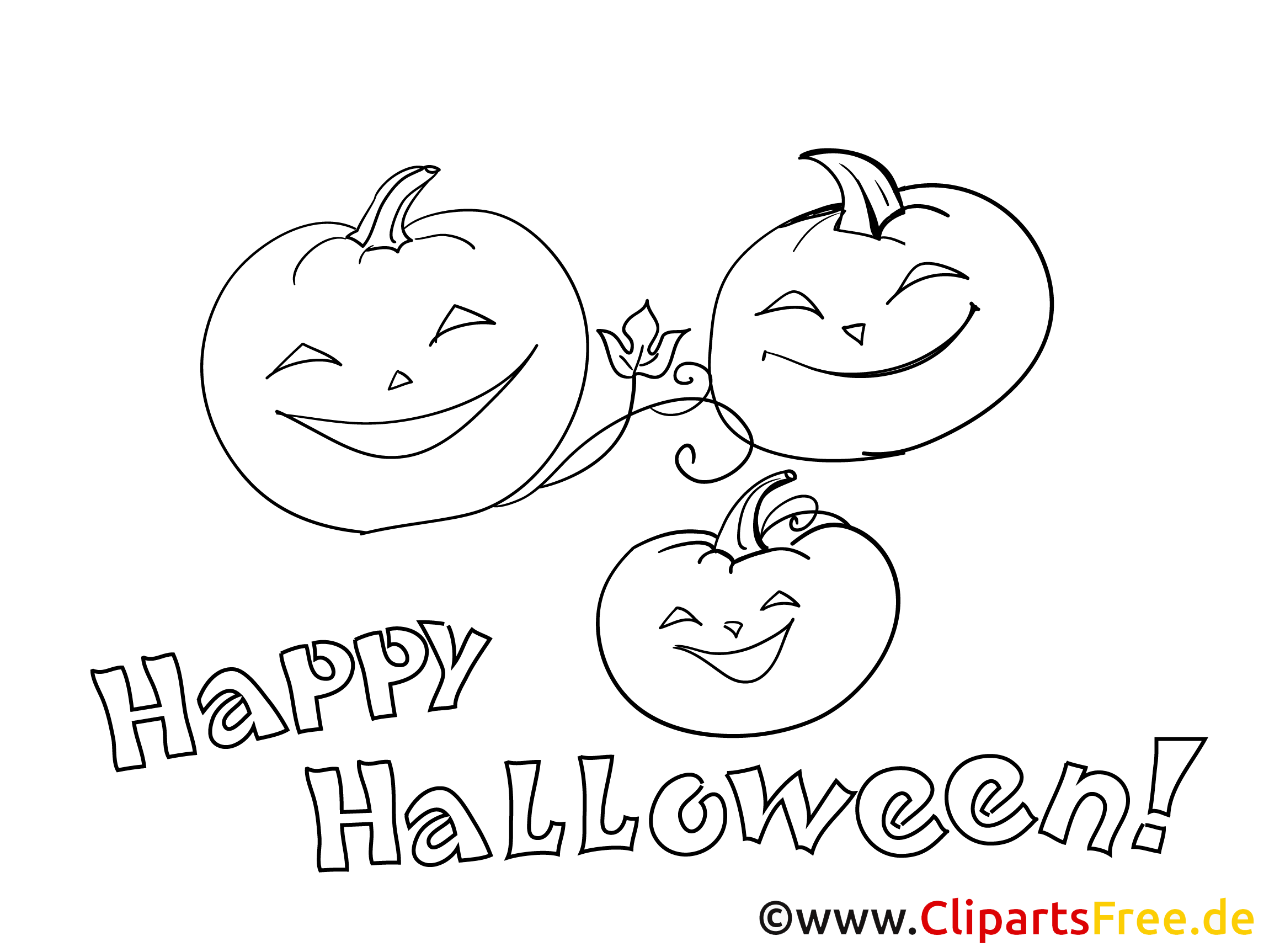 Kostenlose Ausmalbilder zu Halloween