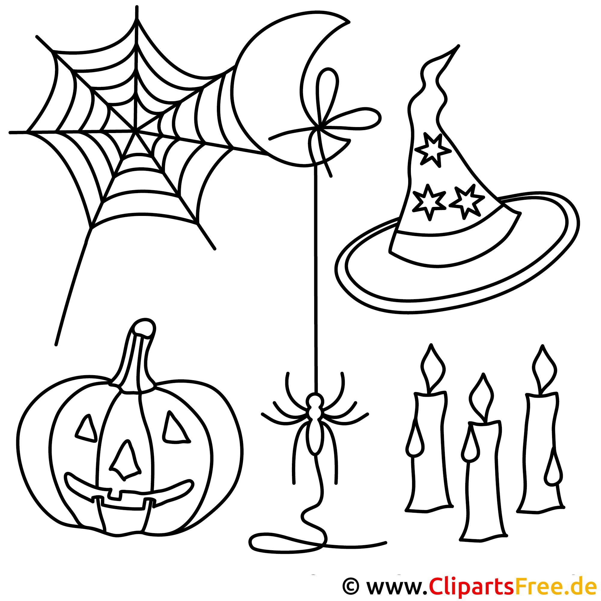 Kostenlose Halloween Malvorlagen