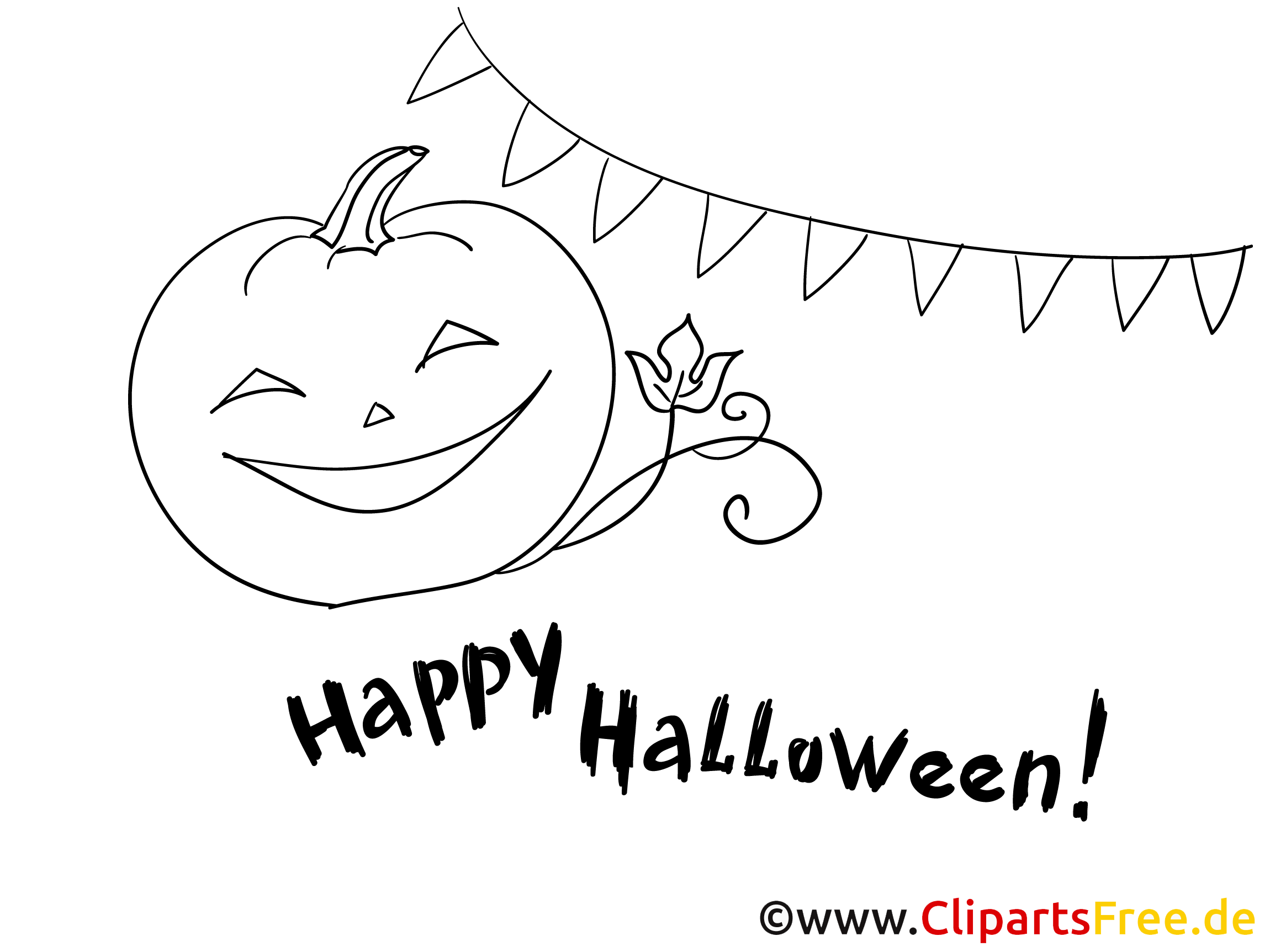 Kostenlose Malvorlagen zu Halloween