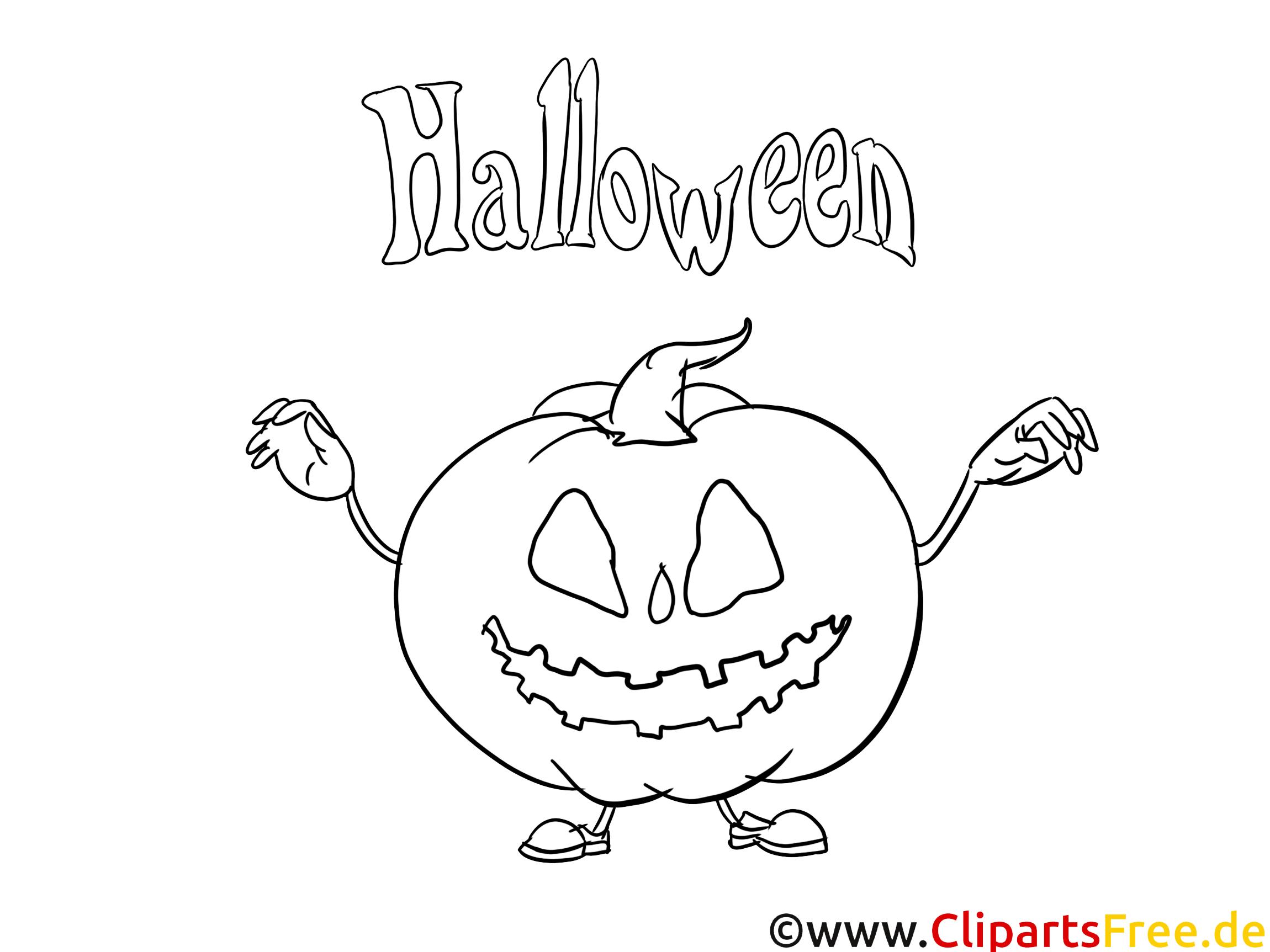 Kürbis kostenlose Malbilder zu Halloween