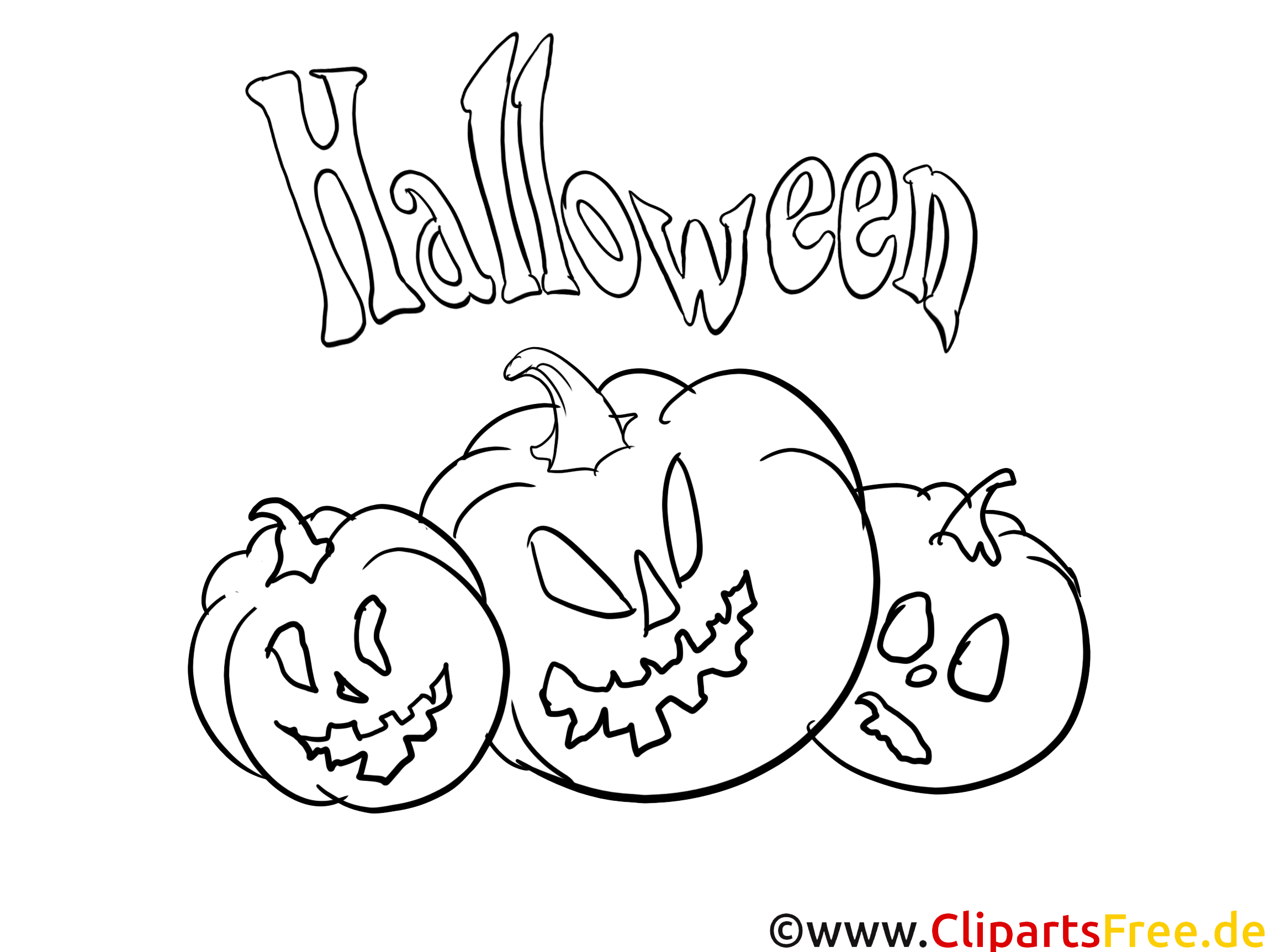 Kürbis Vorlagen zum Ausmalen von Halloween zum Ausdrucken