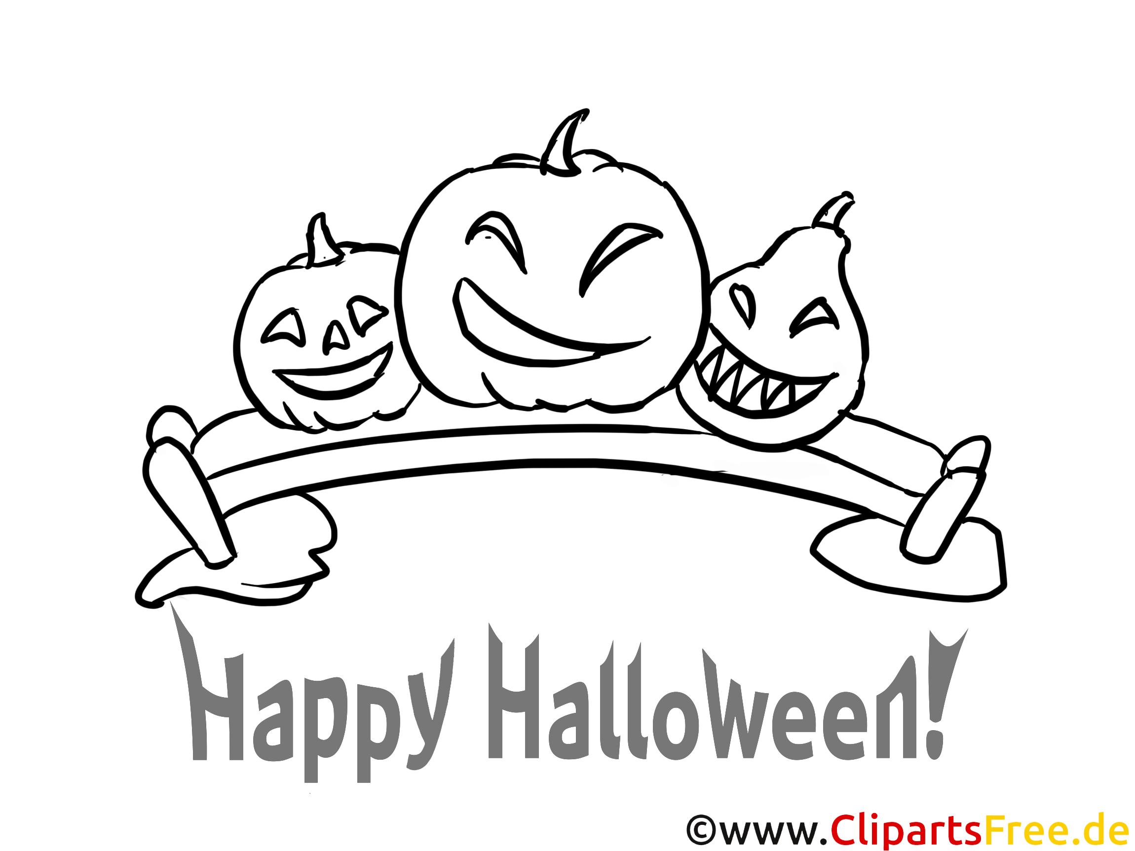 Kürbis zu Halloween Malvorlagen