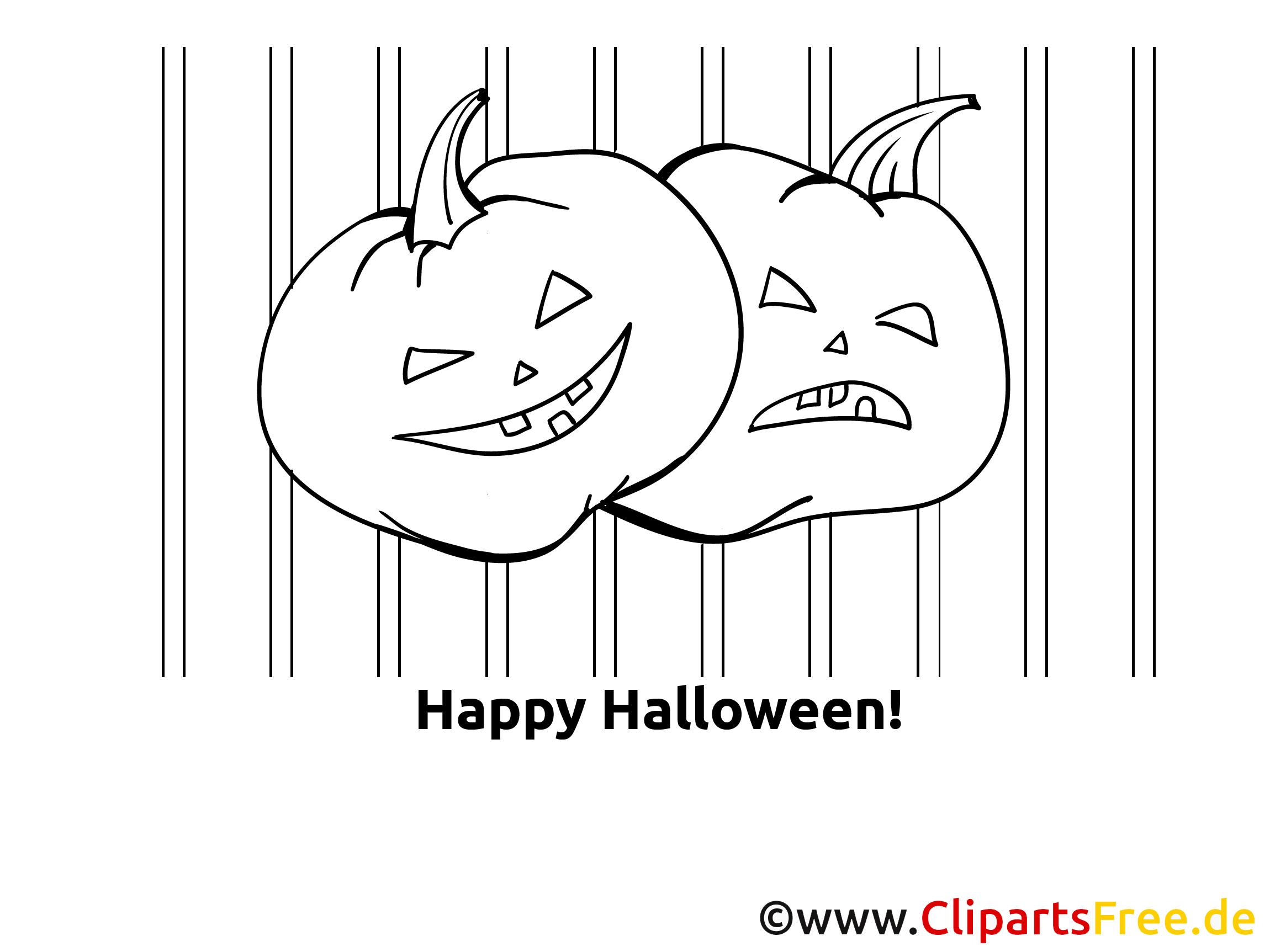 Kürbisse Malbild zu Halloween