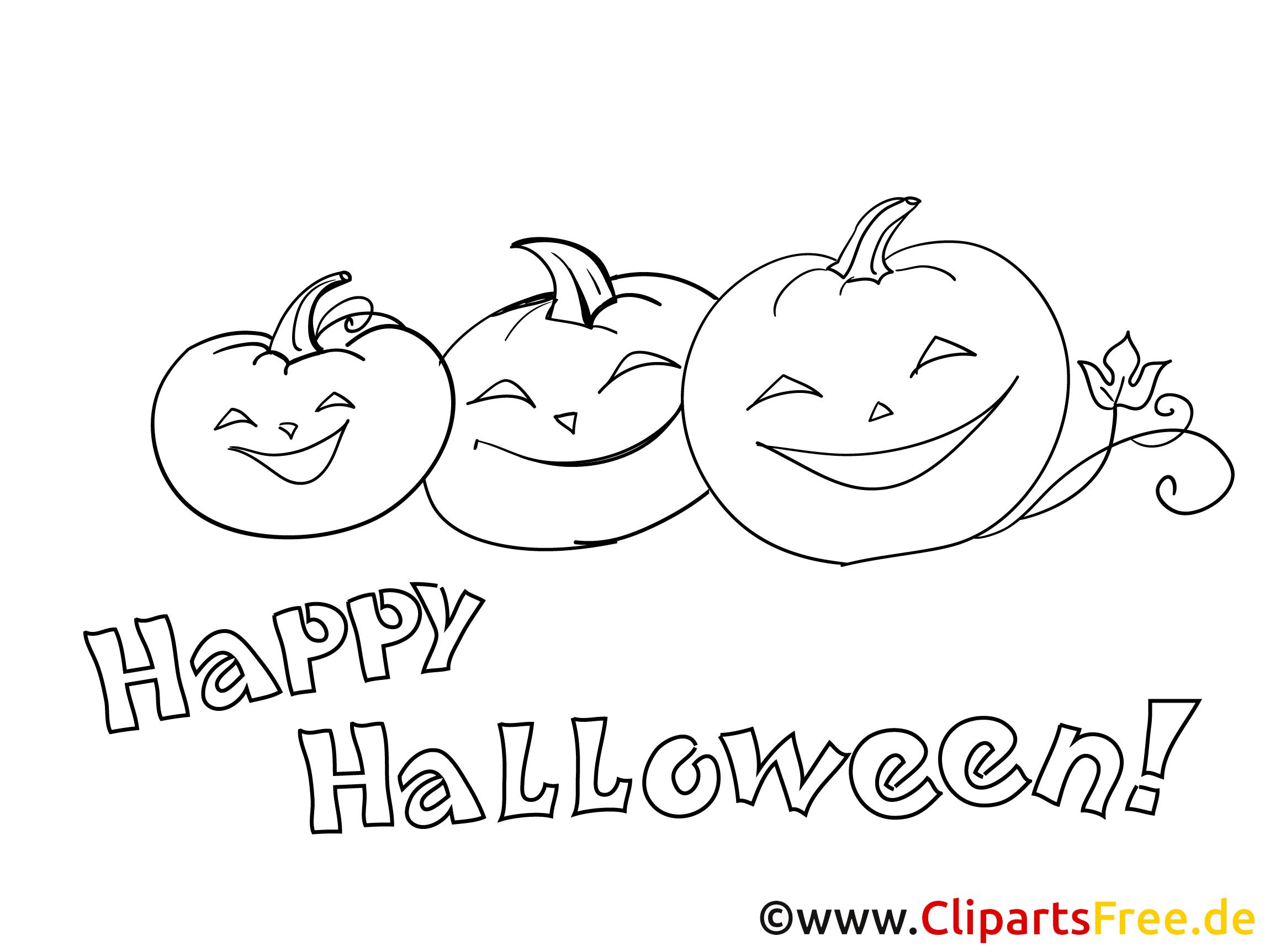 Kürbisse zu Halloween Ausmalbilder