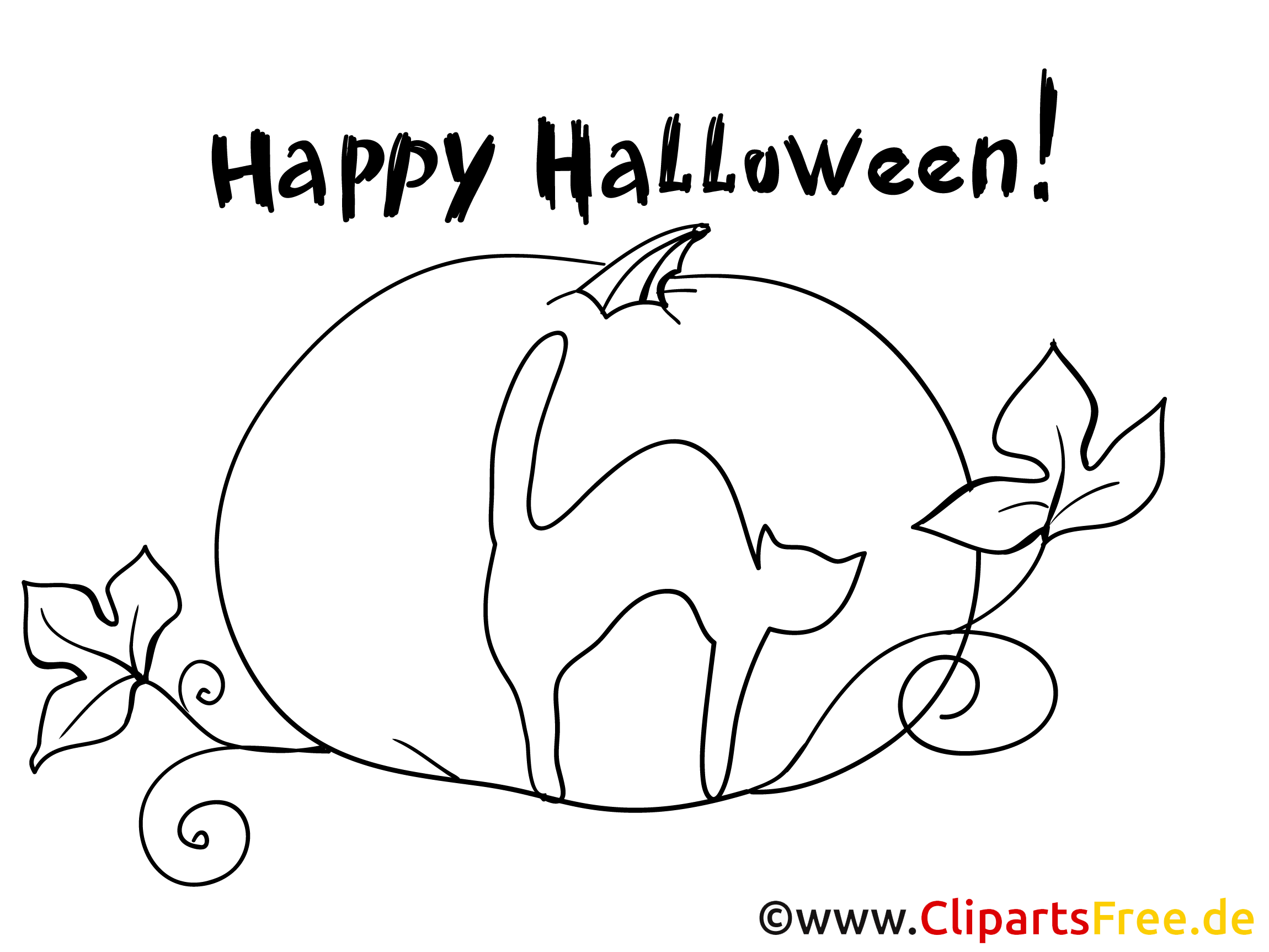 Malbilder zu Halloween