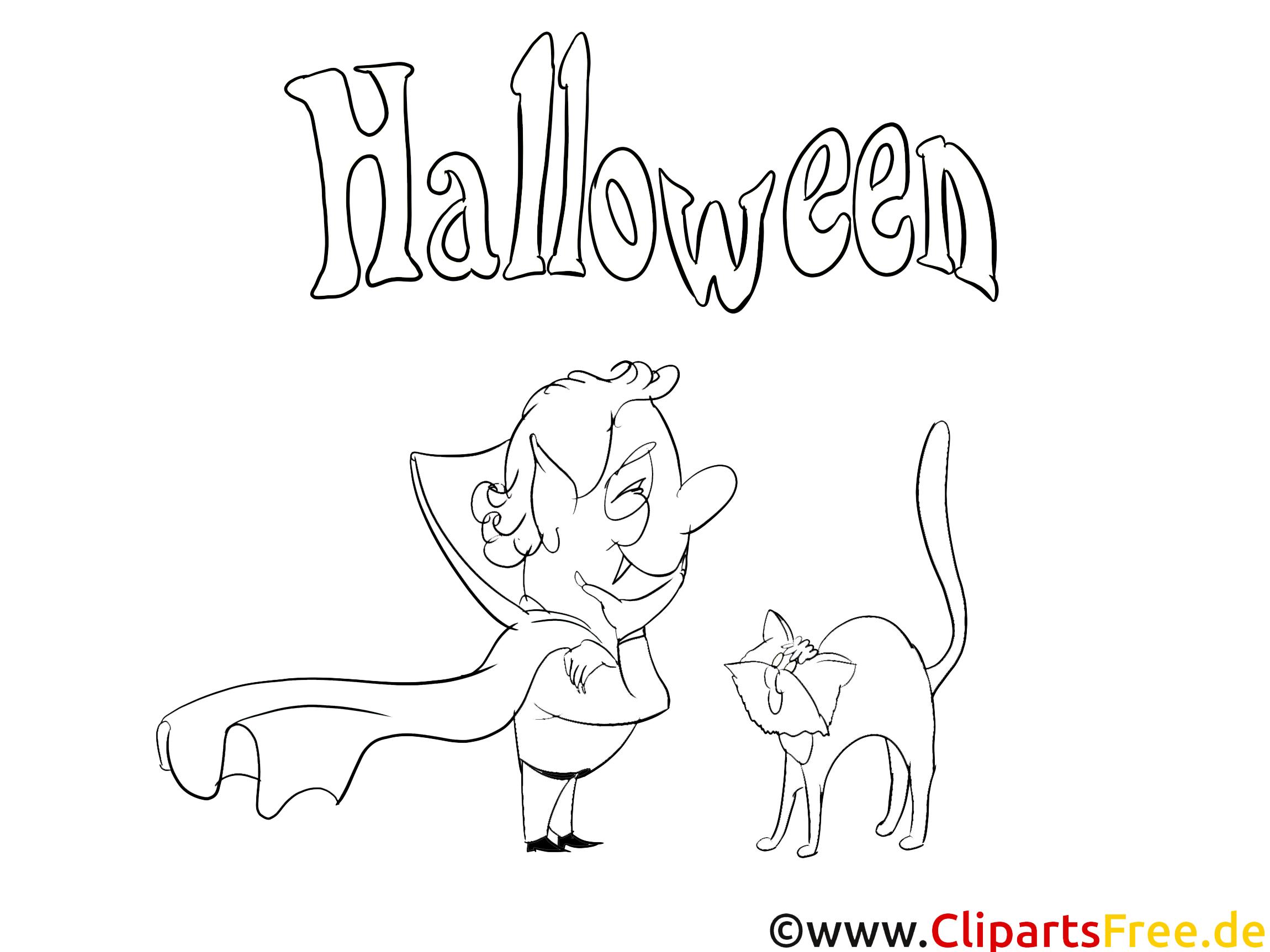 Malvorlage für Erwachsene Halloween