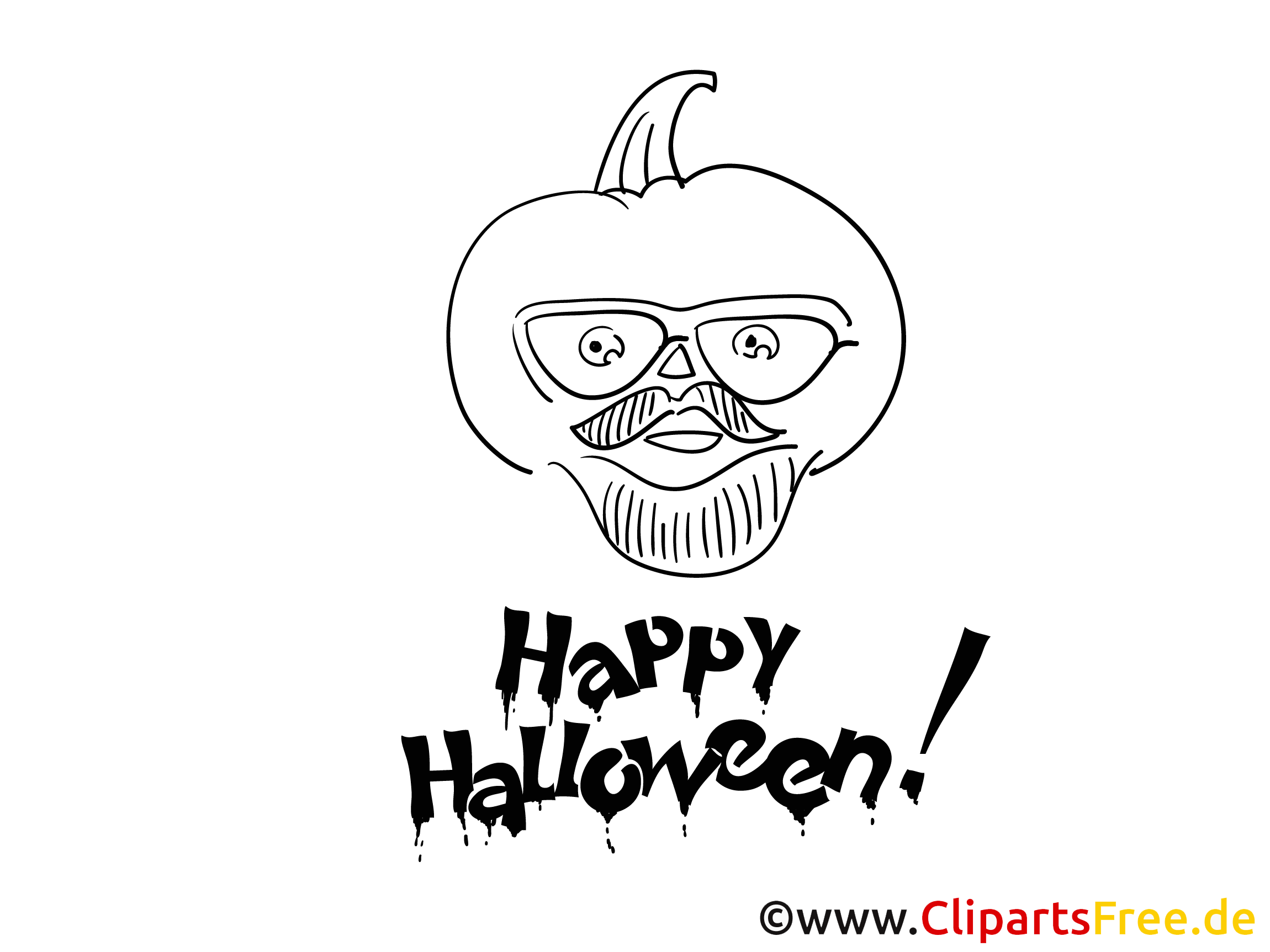 Malvorlage für Erwachsene zu Halloween