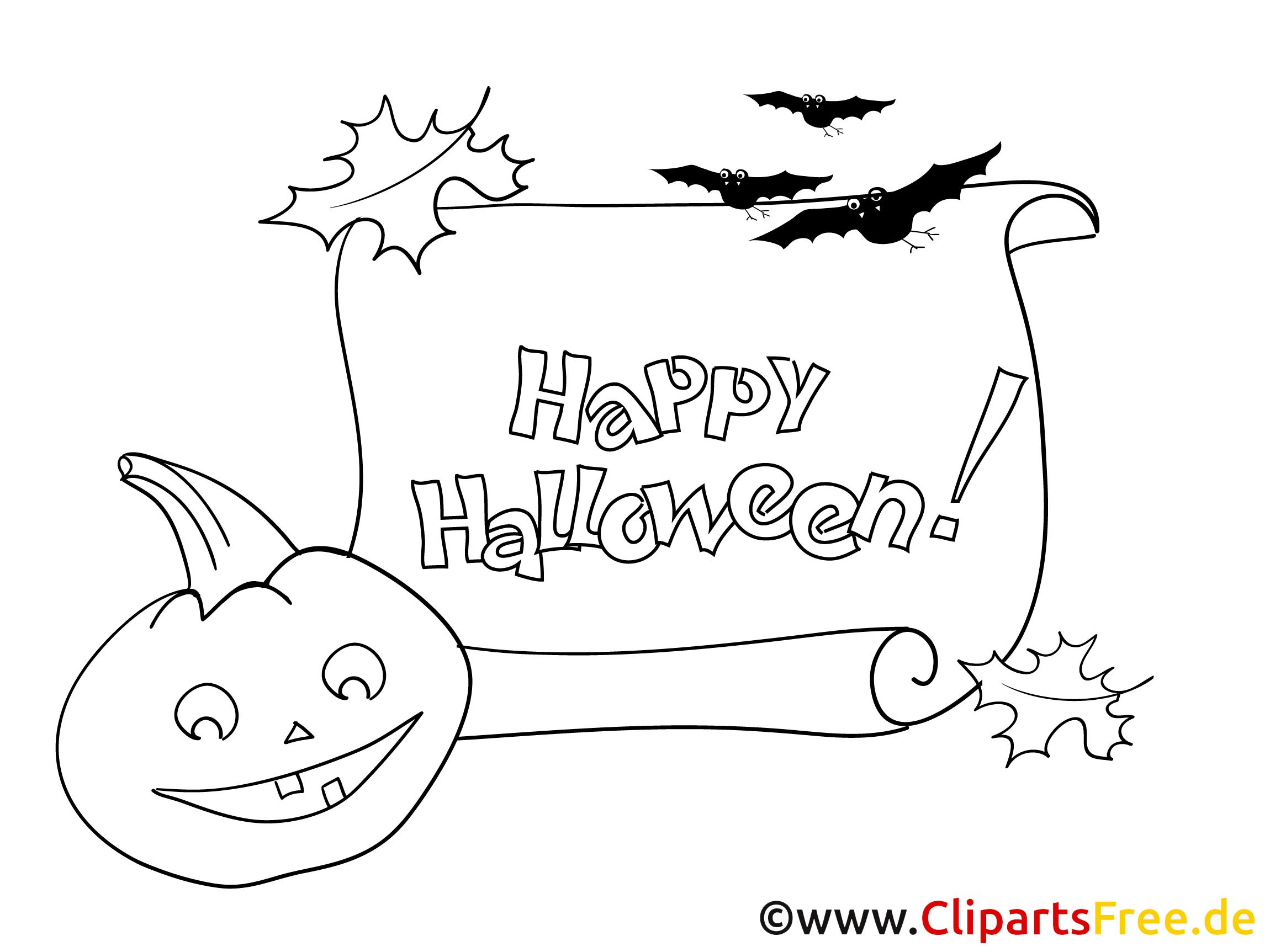 Malvorlage zum Drucken Halloween