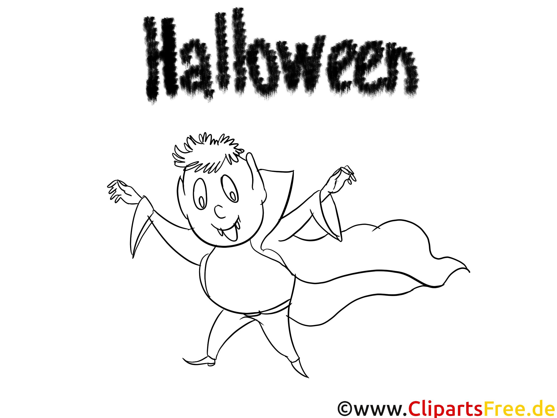 Malvorlagen von Halloween zum Ausdrucken