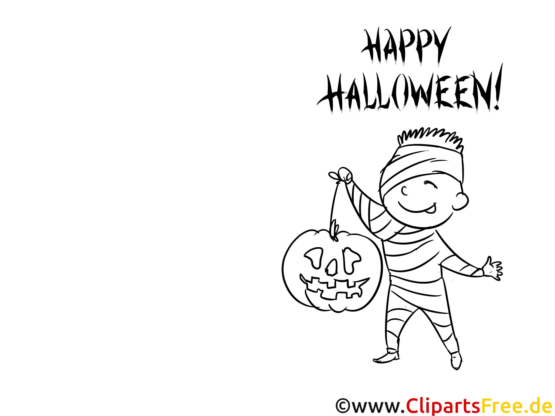 Mumie Malvorlage zu Halloween