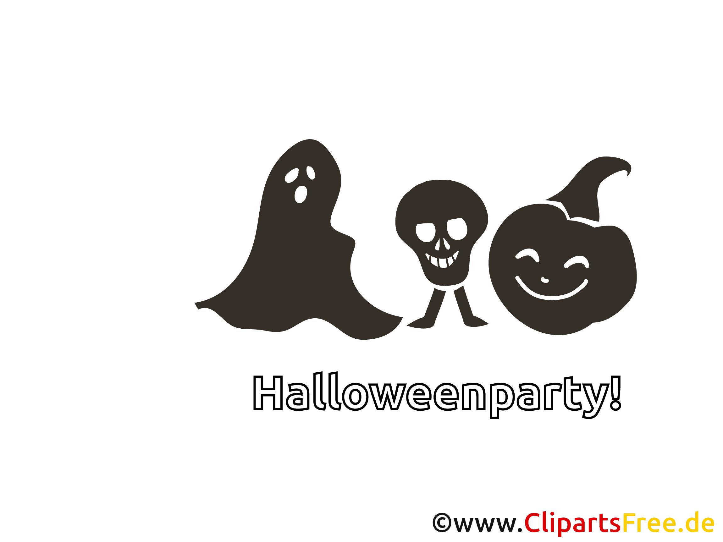 Schädel Geist Halloween Malvorlage-Einladung